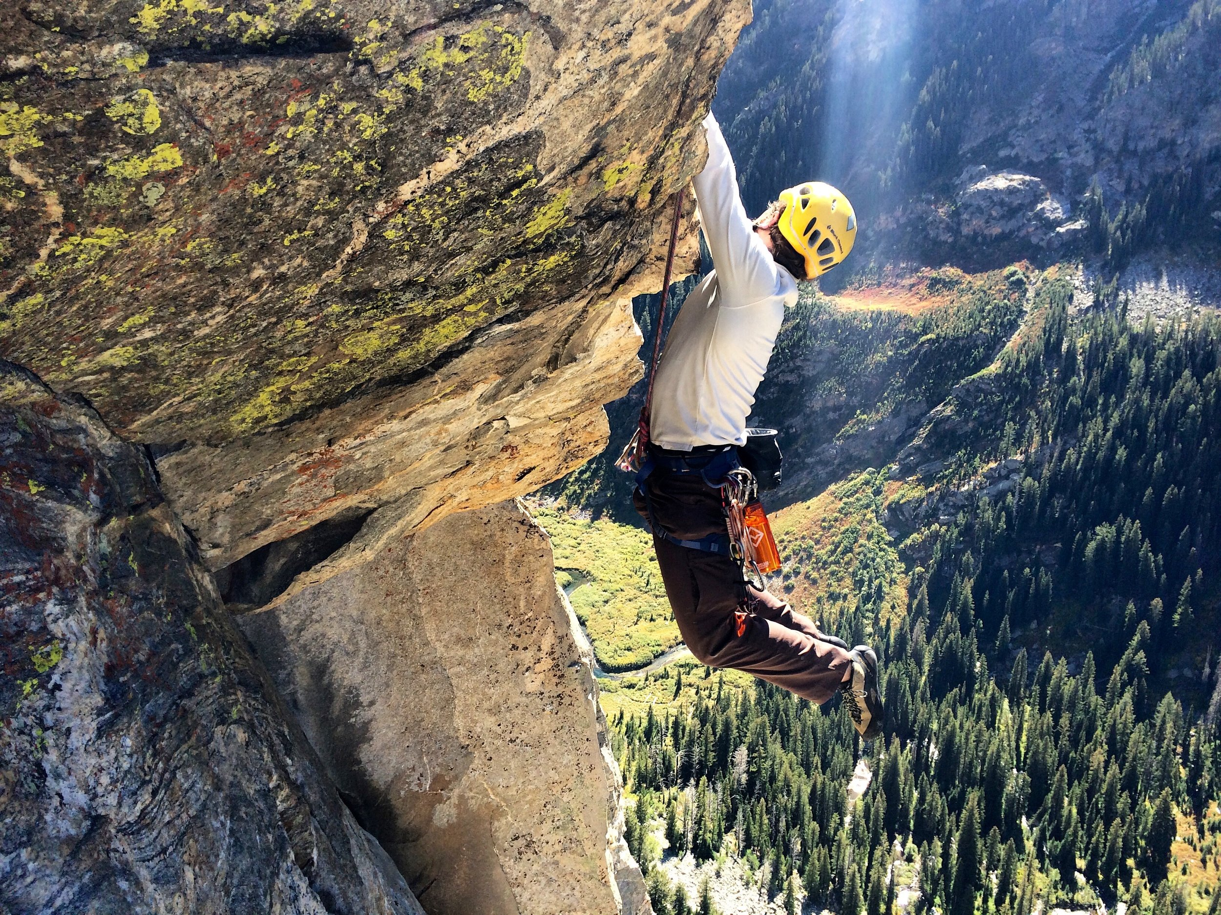 Cutting feet on great holds, just like at the Gunks!
