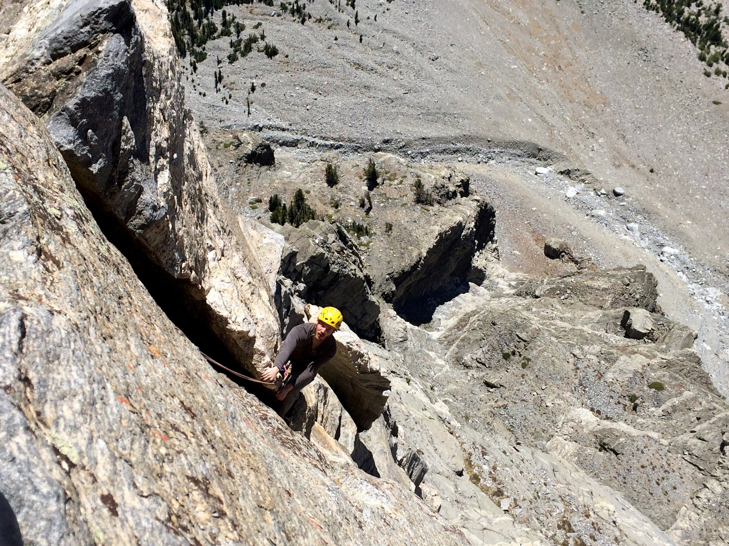 Turns out 5.6 offwidth is too hard for me, so I laybacked this section. Whoops!