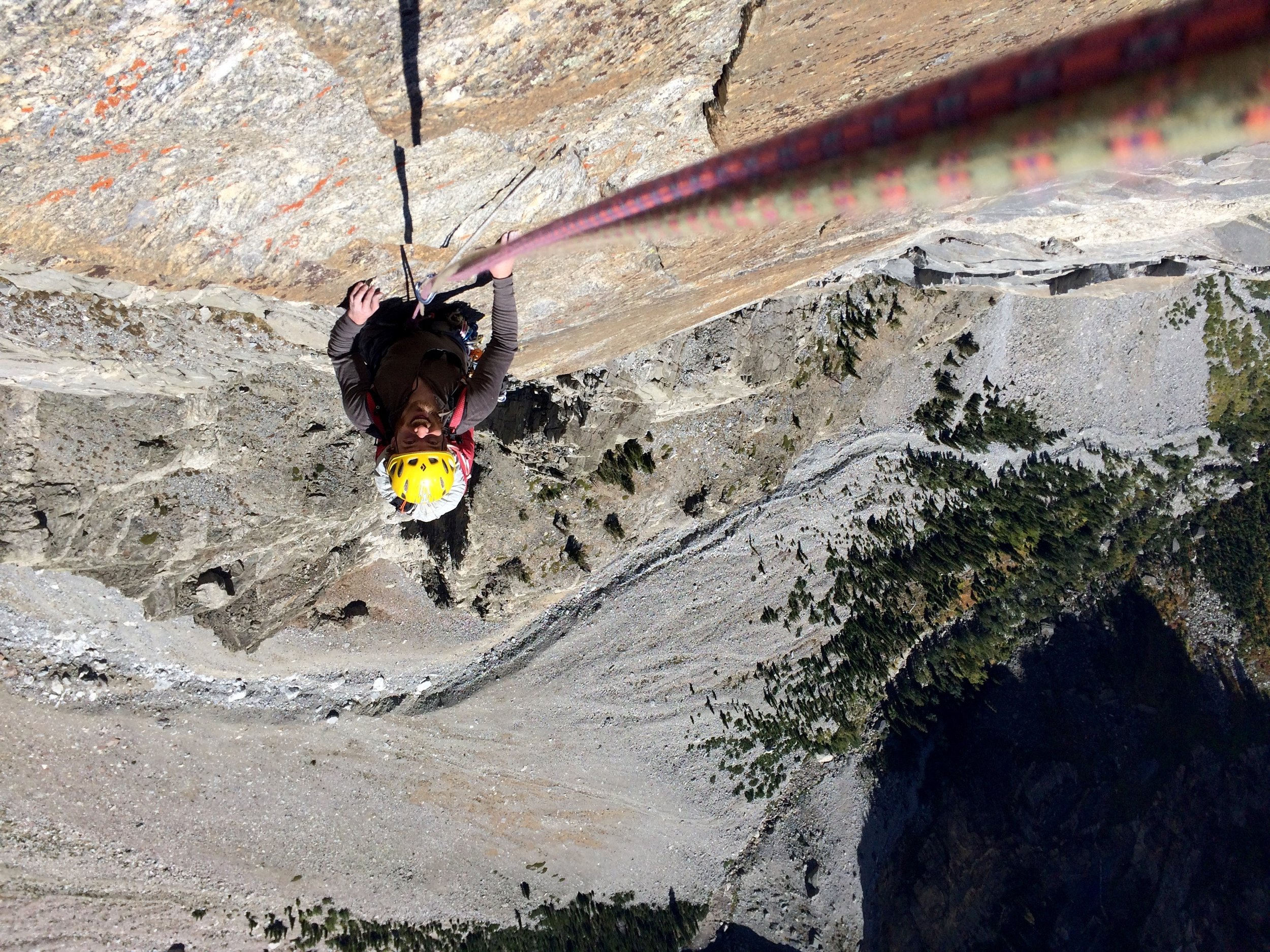 The upper pitches of the DSB route (prior to the summit ridge) were steep and exposed!