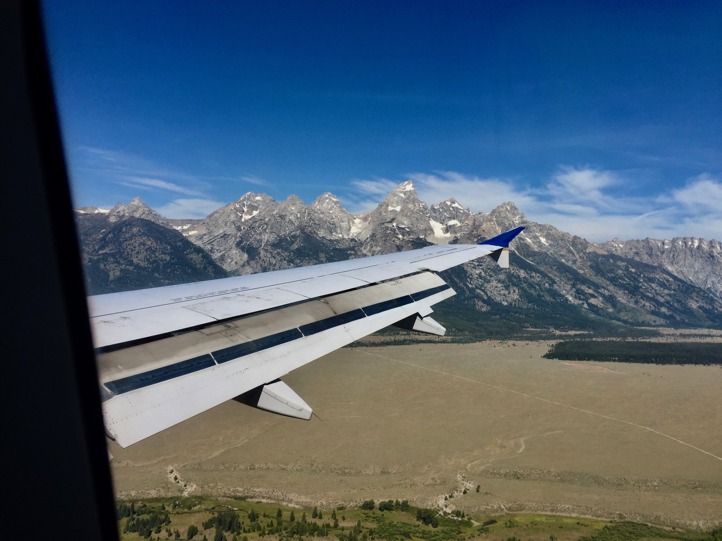 When you look out of the window when your plane is landing and you see this, you know it's going to be a great trip!