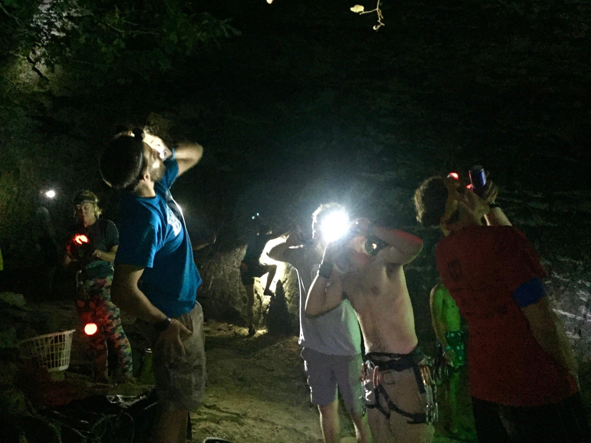 Shotgunning beers at midnight