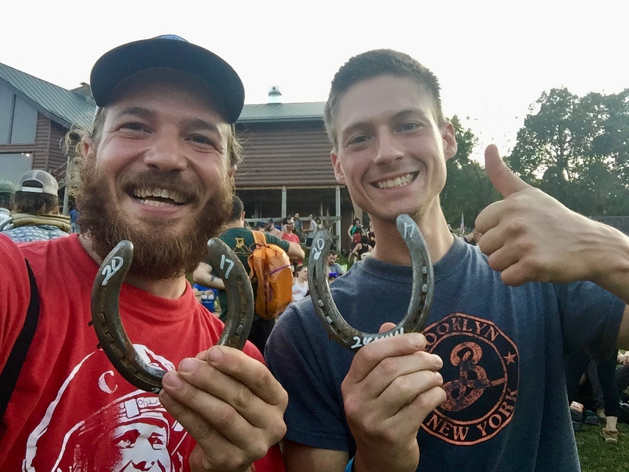 We earned our horseshoes! 24 hours of straight climbing
