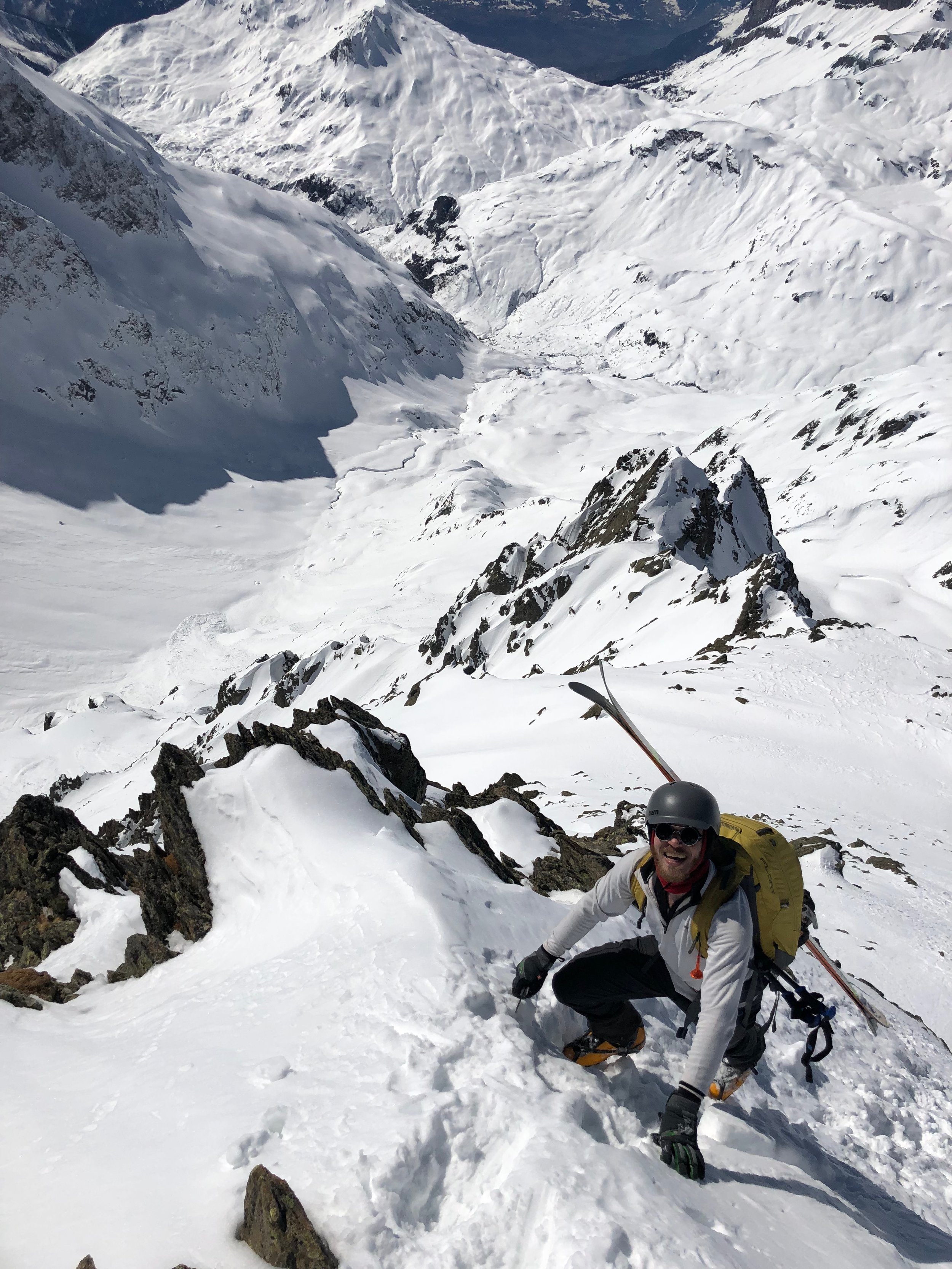 Ice axe, crampons.. This isn't skiing!