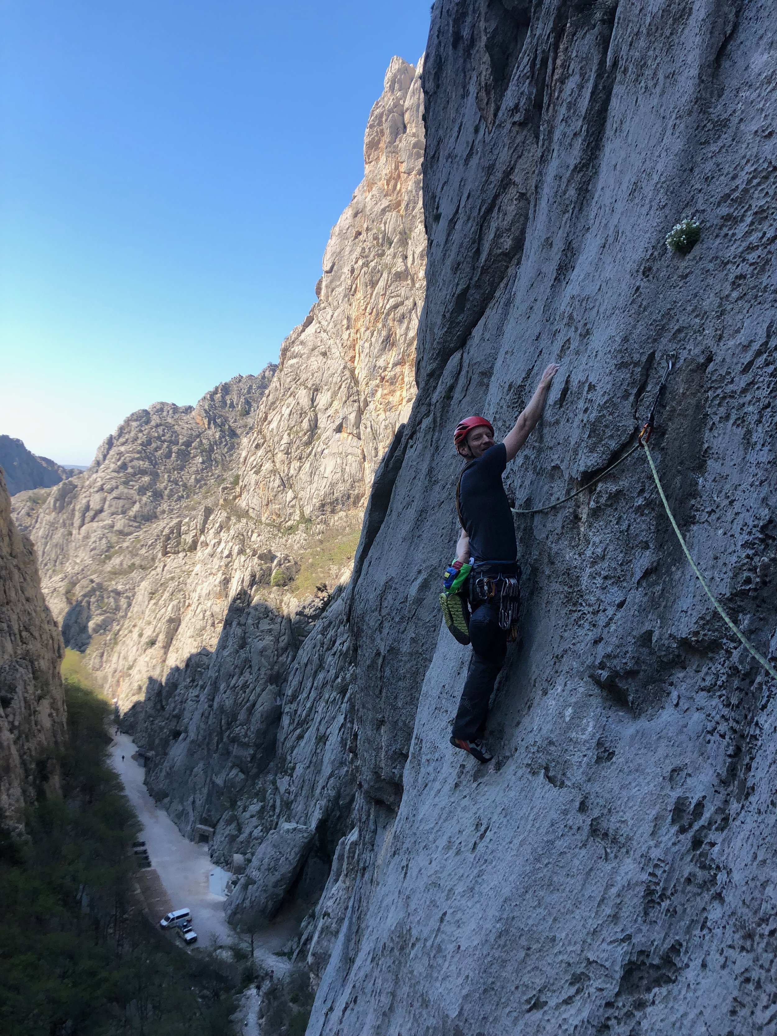 And we didn't limit ourselves to just the Alps! A little multi pitch runout sport climbing in Paklenica, Croatia.