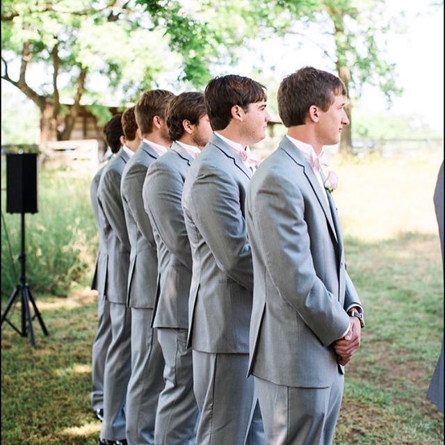 Loved making these groomsmen ties and seeing them on the big day! Read more about the Espy wedding and see more pictures on our blog at www.tiesbylucy.com/blog/. #menswear #bowtie #groomsmen #custommade #shoplocal #fashion #handmade