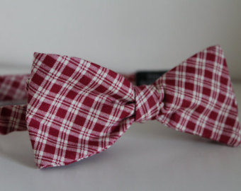 Copy of Burgundy & tan plaid