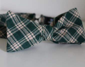 Copy of Dark green & tan plaid