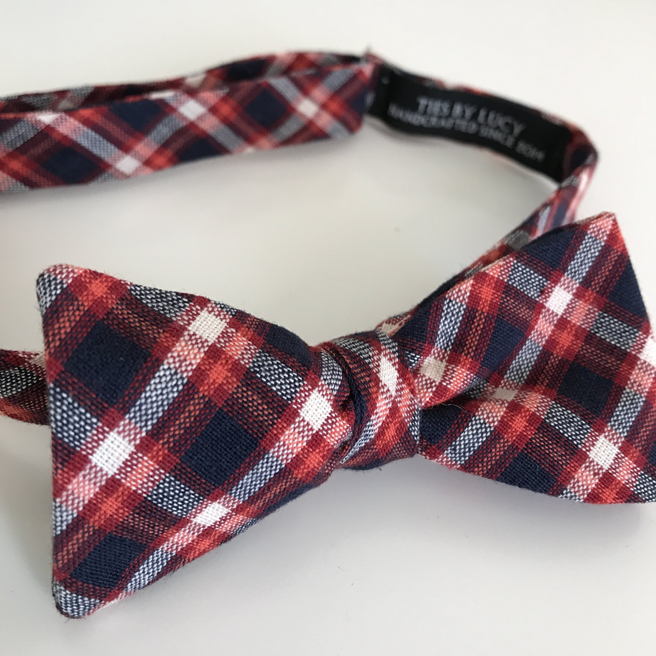 Copy of Navy, orange and red tartan
