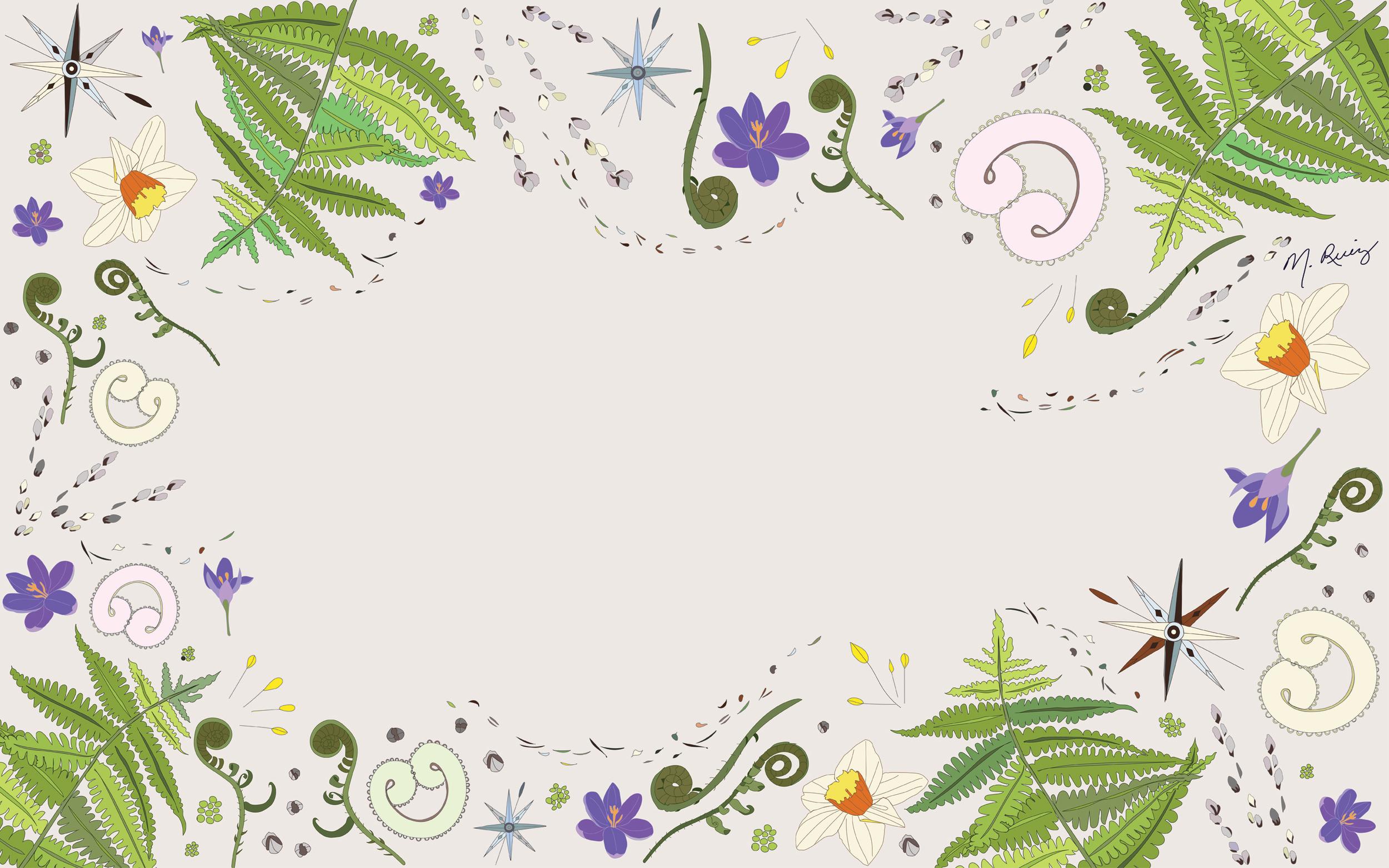 Spring Wind desktop wallpaper - Light