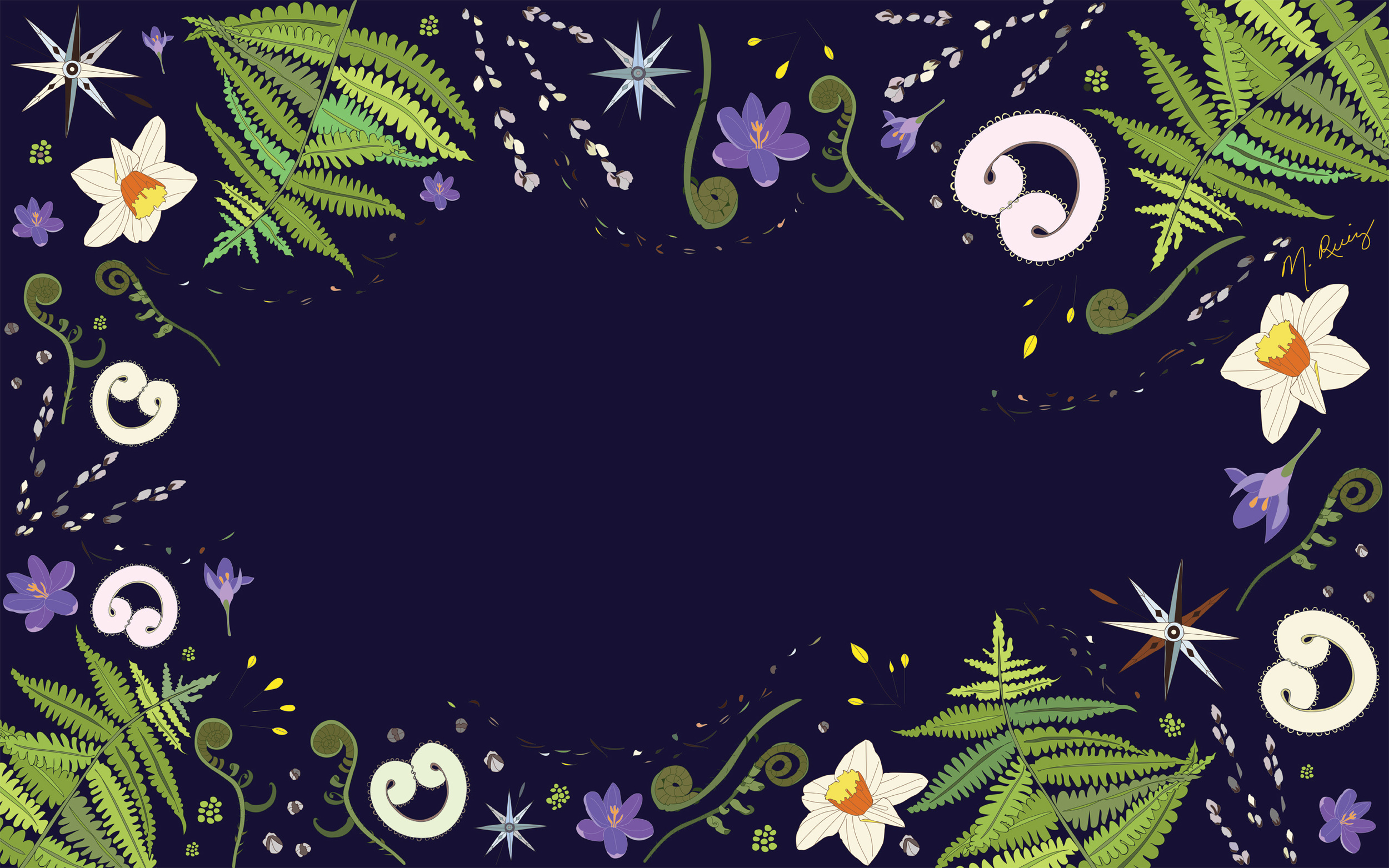 Spring Wind desktop wallpaper - Dark