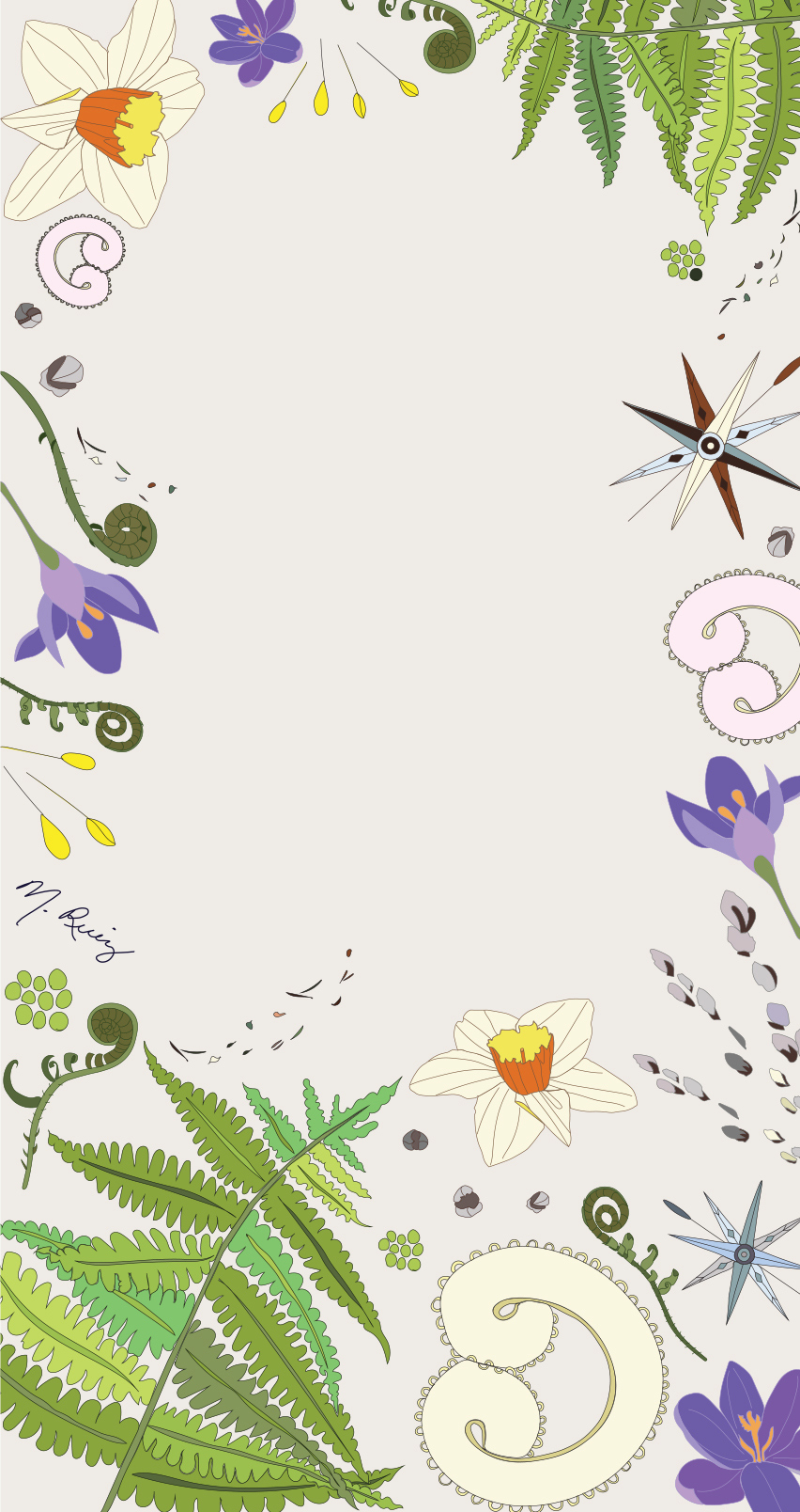 Spring Wind mobile phone wallpaper - Light