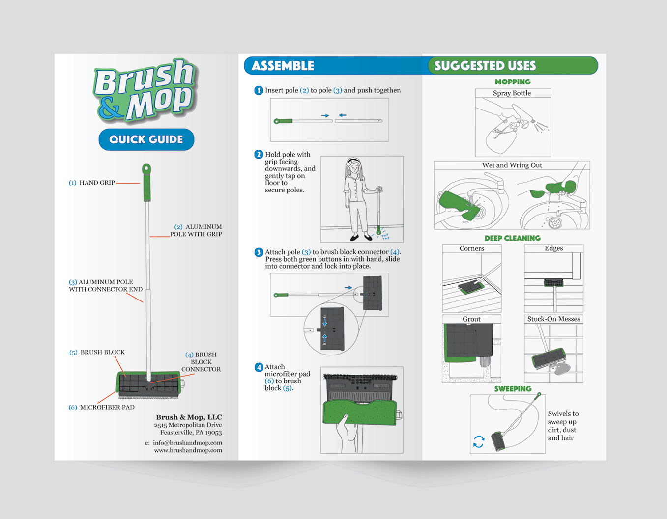 "Single Sided 8.5"" x 11"" Trifold Brochure"
