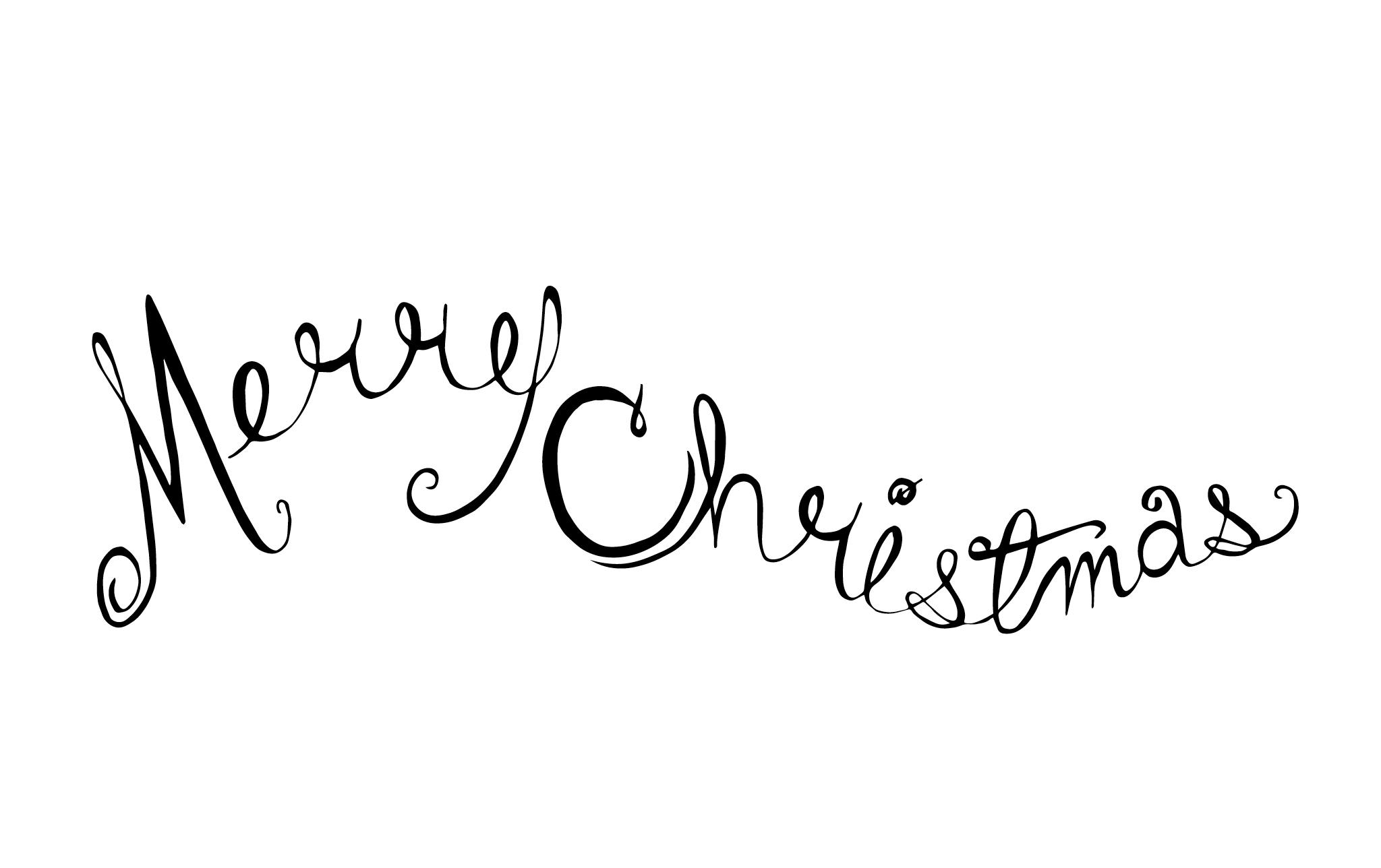 Inside of Christmas Wreath Card; Pen