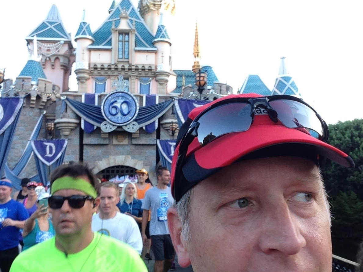 That's me, at Cinderella's Castle at Disneyland