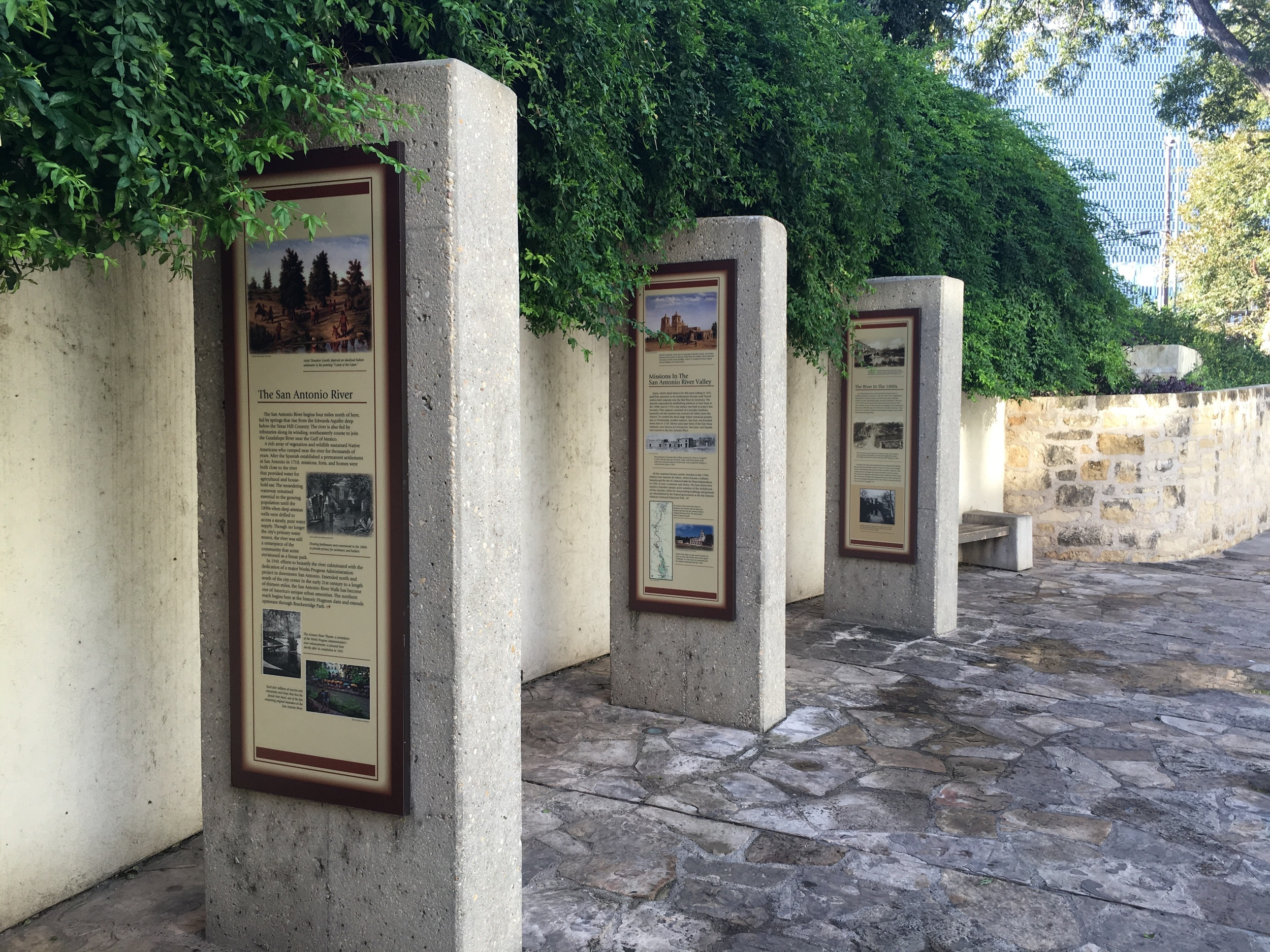 Historical placards along the route