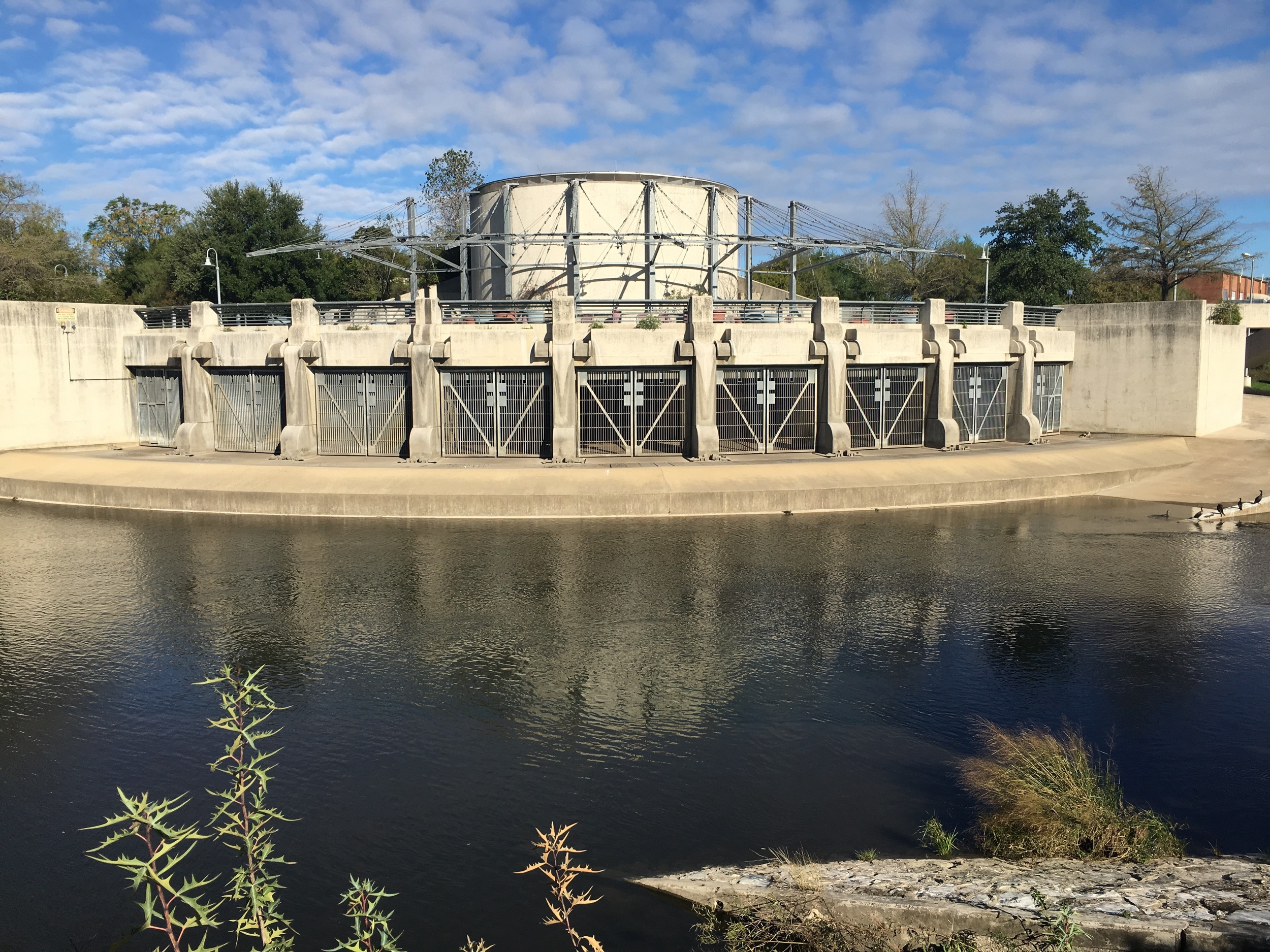 The outlet of the San Antonio Flood Control Tunnel