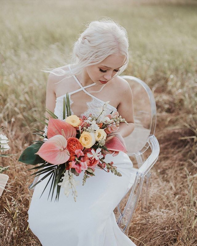 In reference to my last post; no Hobie and I did not elope! Sorry, I didn't think so many people would believe me since BTS were posted on stories. 😆 We have just been asked to be a part of some wonderful collaborations! This shoot was so much fun and I feel so blessed to have been a part of this incredible team of creatives. Can't wait to share more of our fake wedding. 💕💛 Photographer: @savanamayfield Florals: @_potsnpetals_  Hair + Makeup: @theshearshed  Dress: @aniabridal @willowbywatters Calligraphy: @eventscript