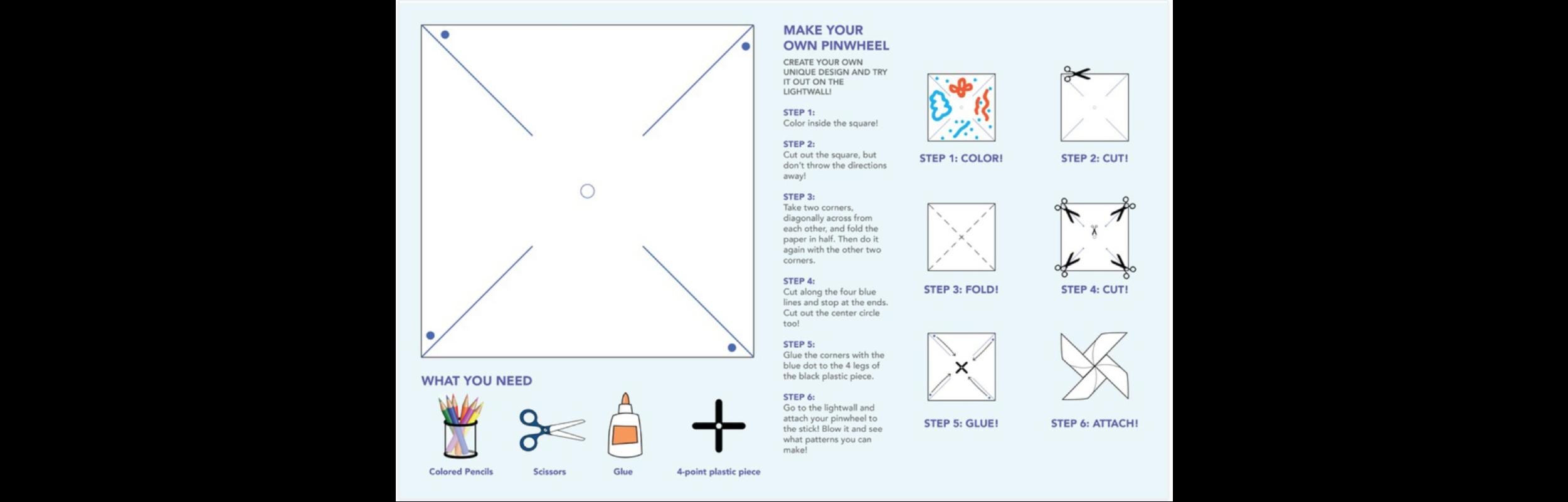 Kids pinwheel activity sheet