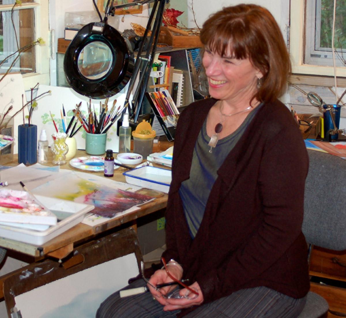 Tina Thieme Brown In Her Studio