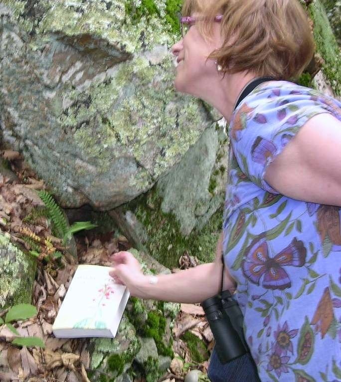 Tina teaching on Sugarloaf Mountain