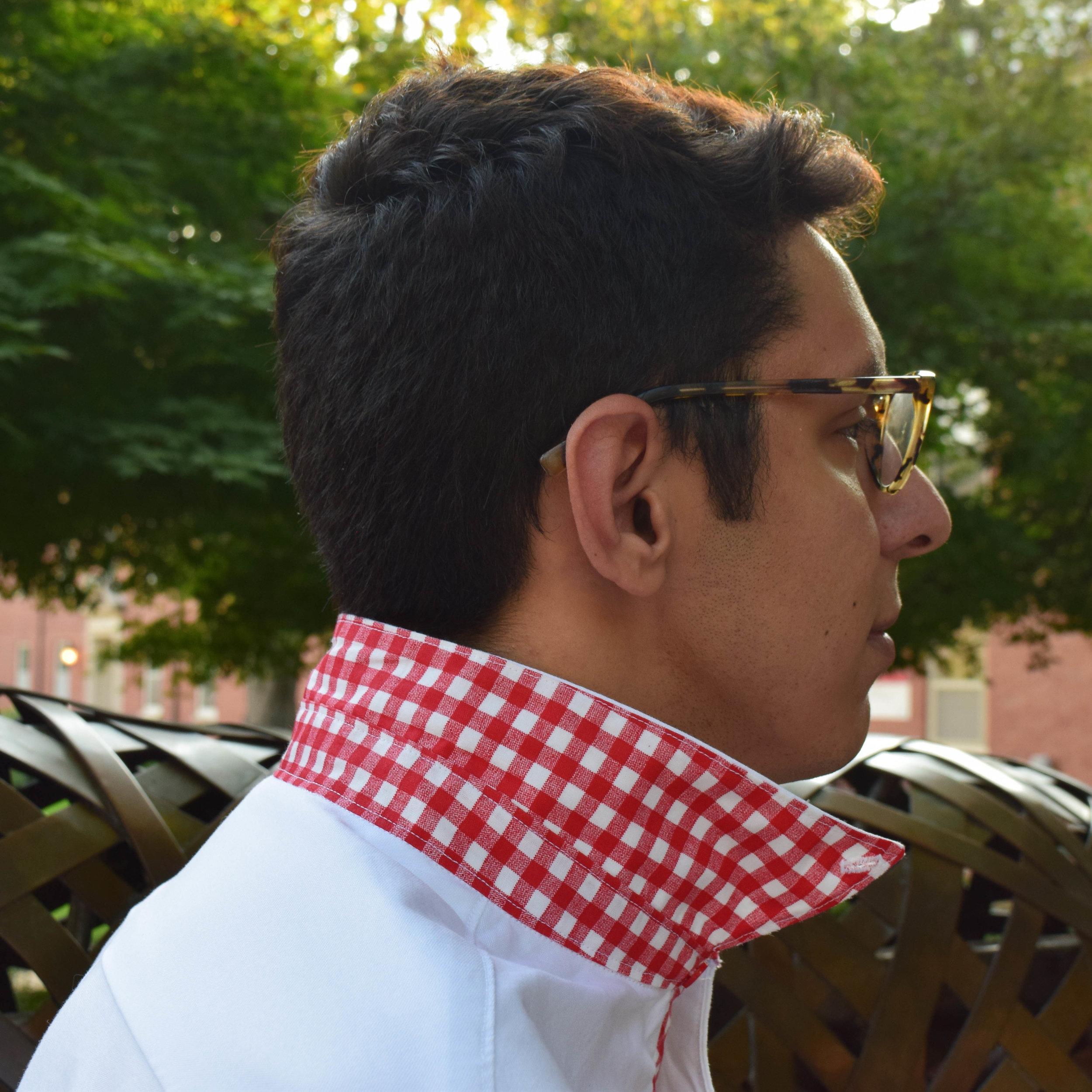 Contrast Under Collar