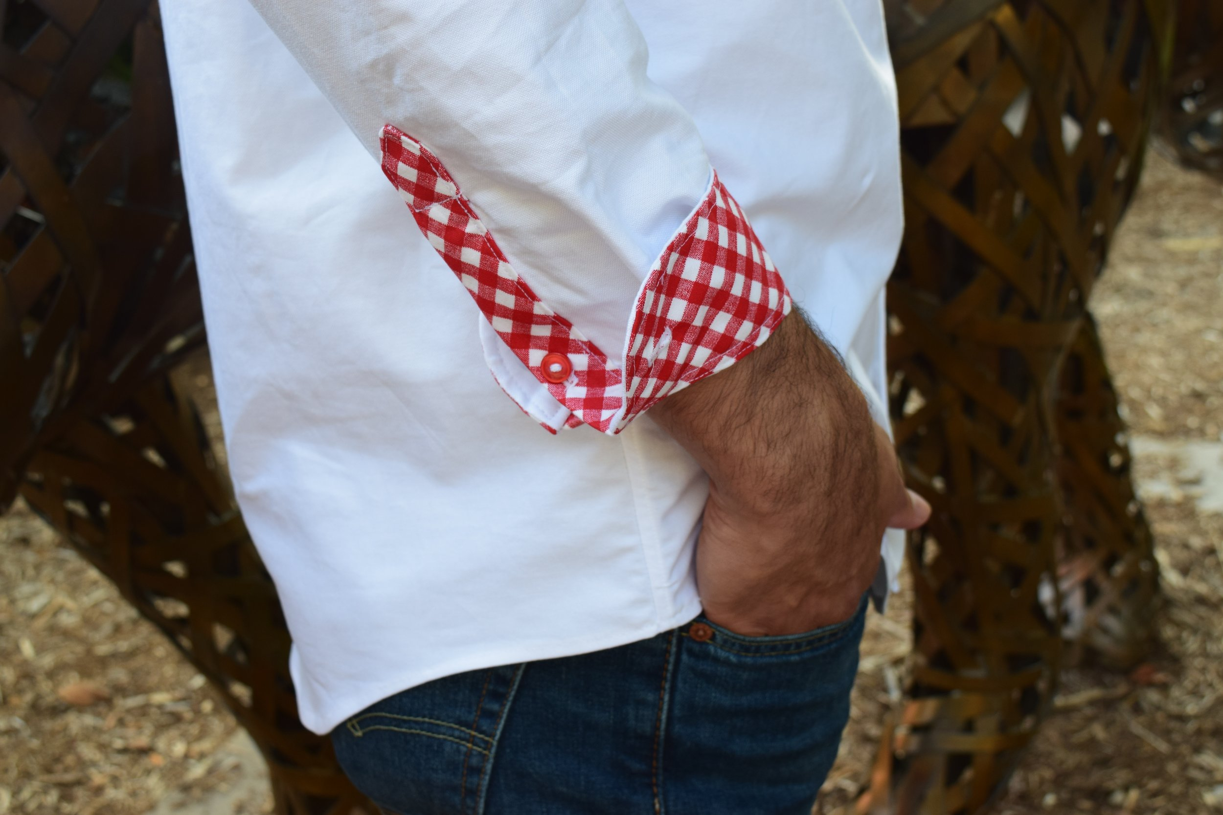 Contrast Cuff and Placket