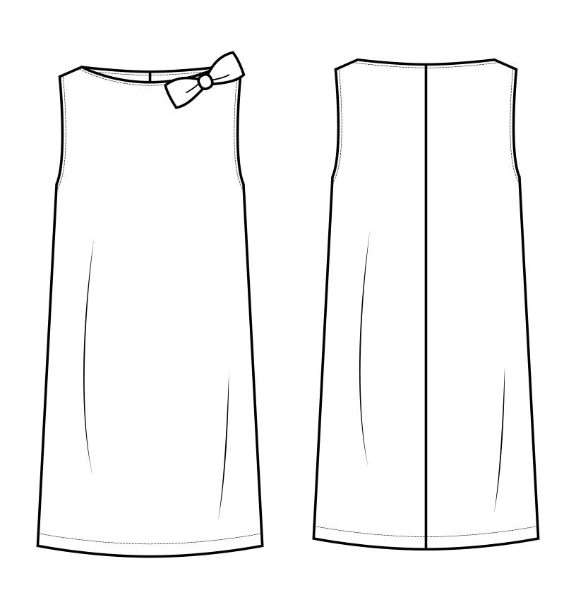 Girl's Dress Technical Flat