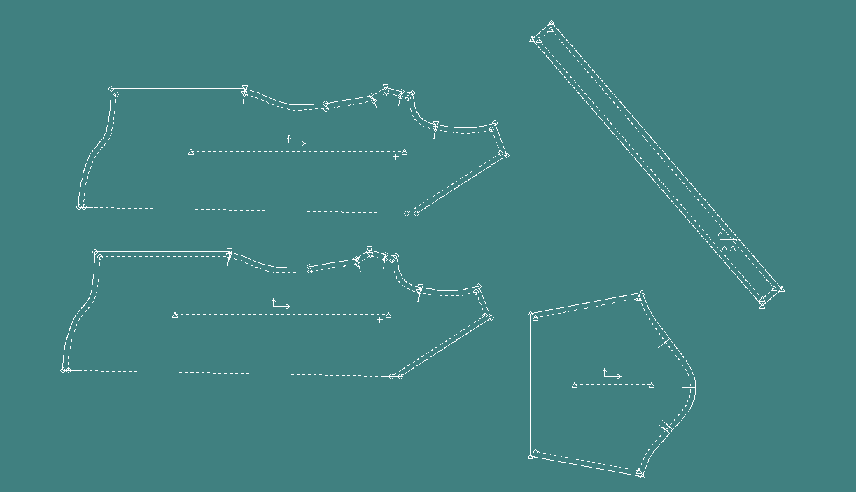 Flat pattern screenshot from Gerber Accumark.