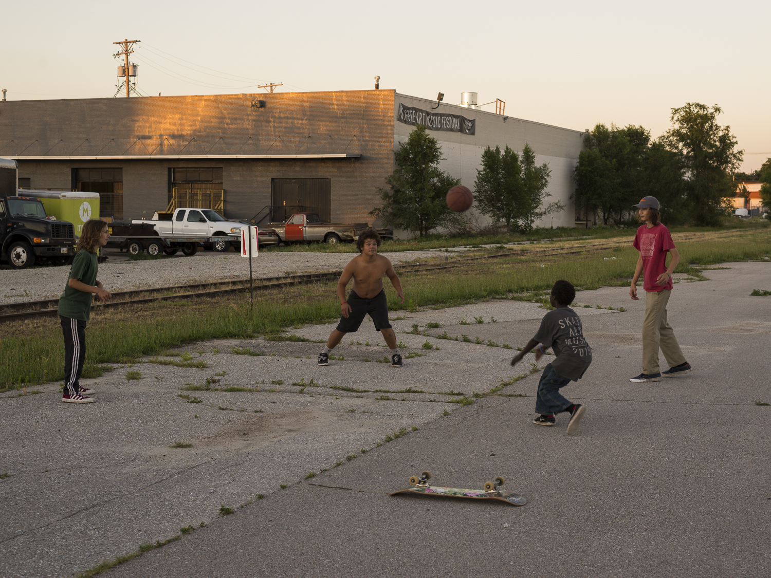 The Boys Playing Foursquare , 2018, Lincoln, NE