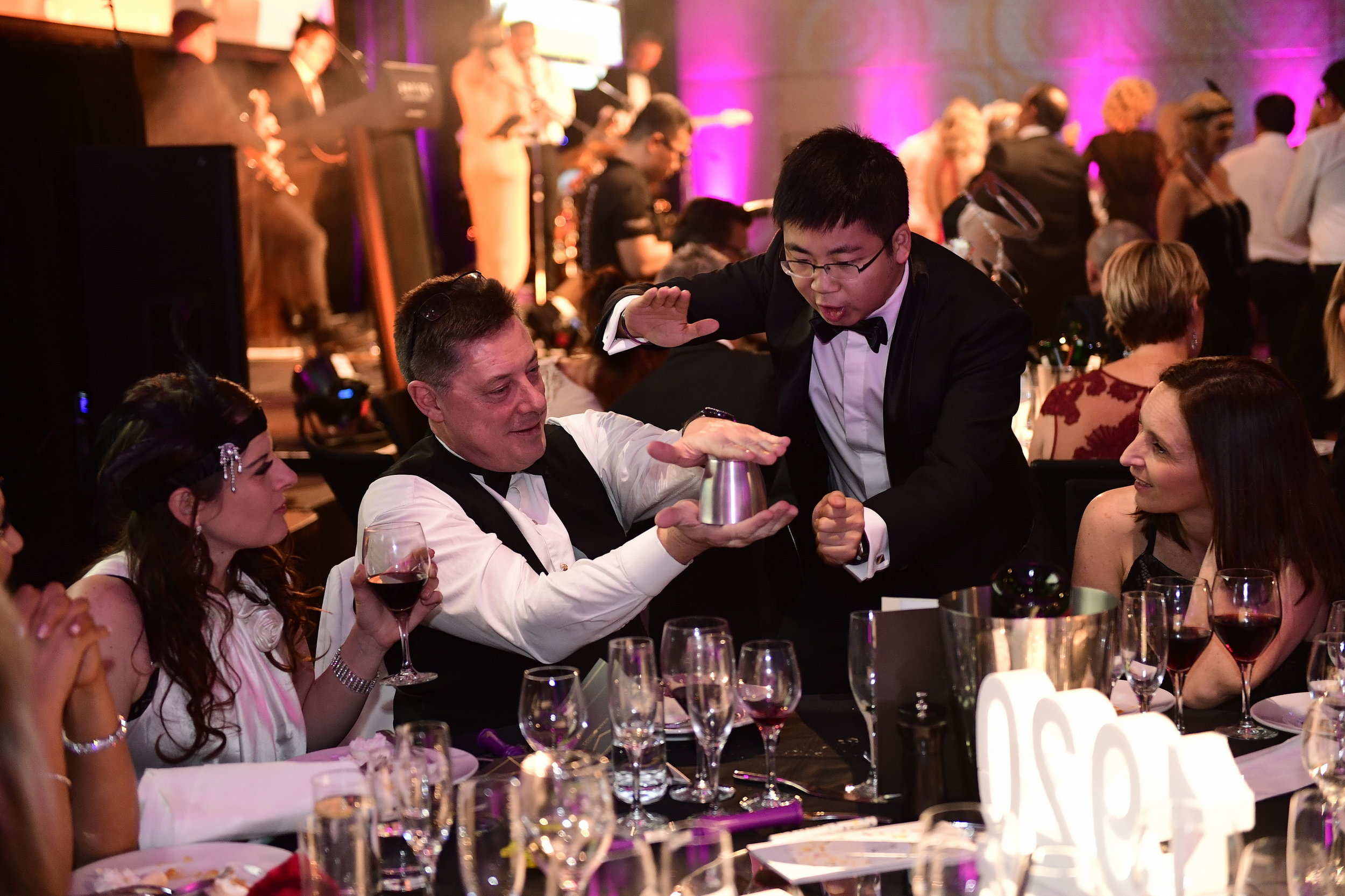Table Magic - -Magician performs from table to table- Perfect for any down-time during / between the meals- Increases audience engagement with the event