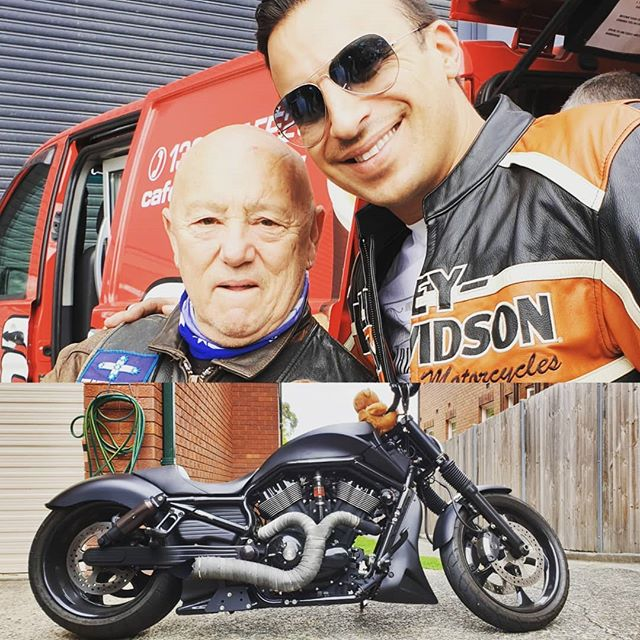 Great fundraising ride for a fantastic cause. #bearcottage #ridewitharockstar @northernbeaches_harleydavidson to wisemans ferry. #angryanderson #legend #teddyandirockedit #stripeproperty