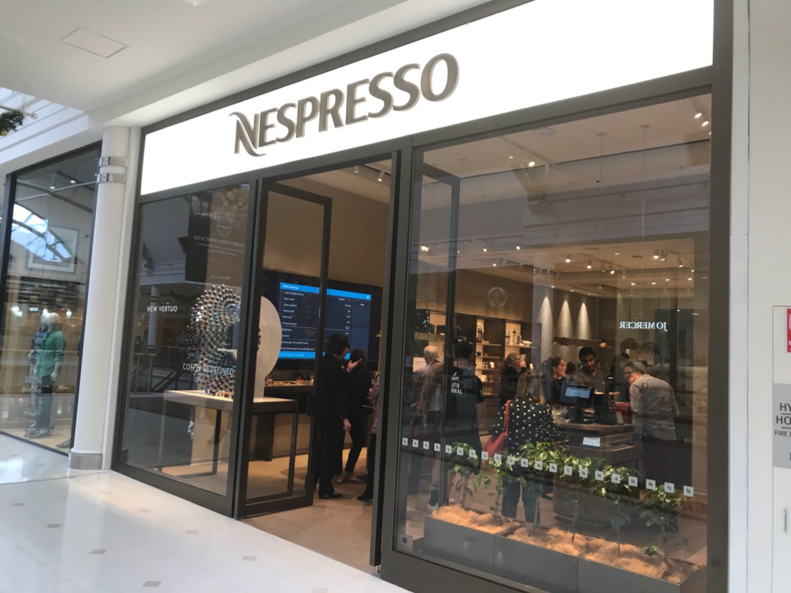 Nespresso Shopfront Sign