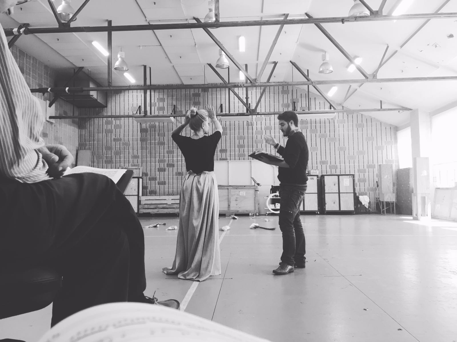 Greg in rehearsal with Lise Lindstrom at the Opera Centre in Sydney  Photo: Tanja Binggeli