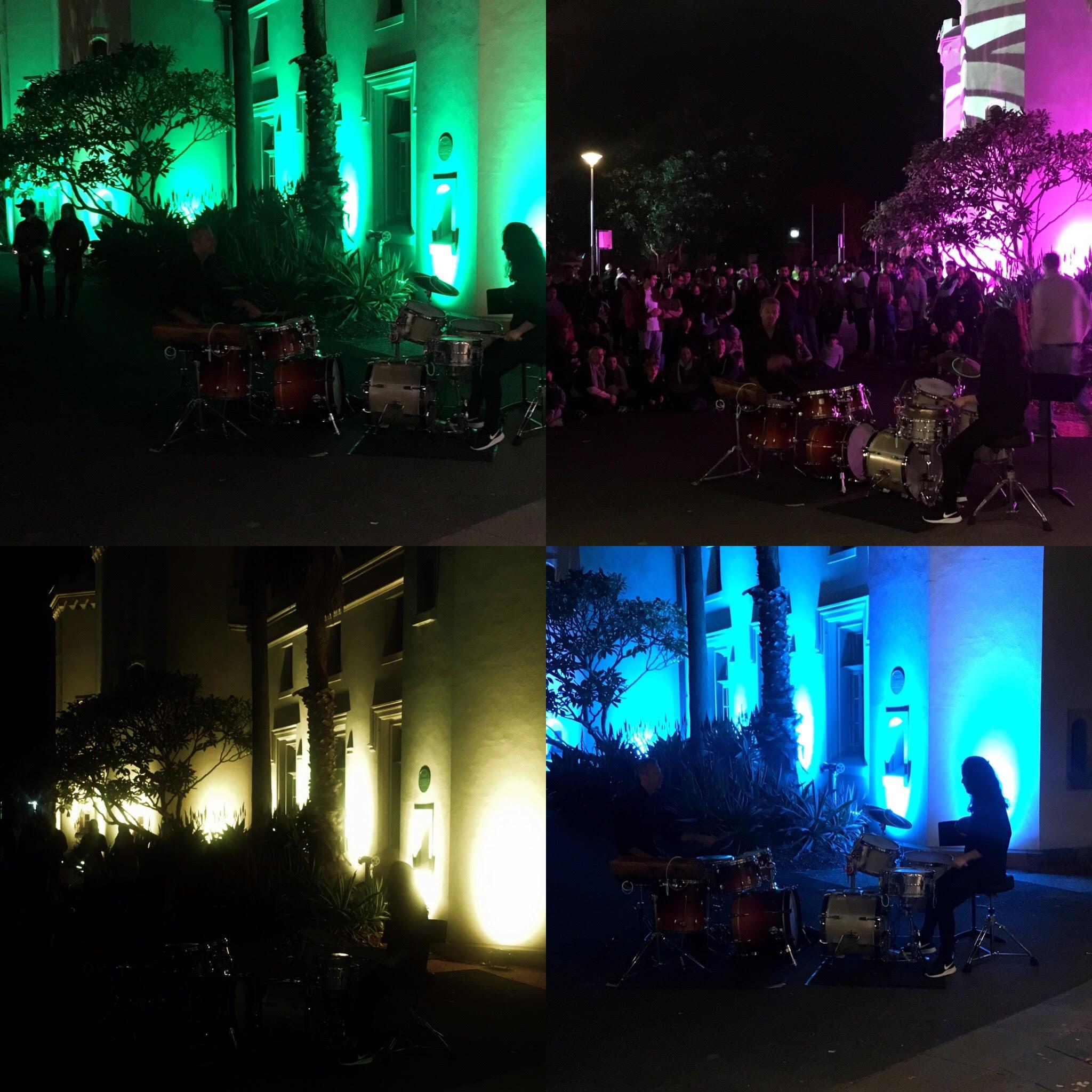 Sydney Conservatorium lit up for Vivid