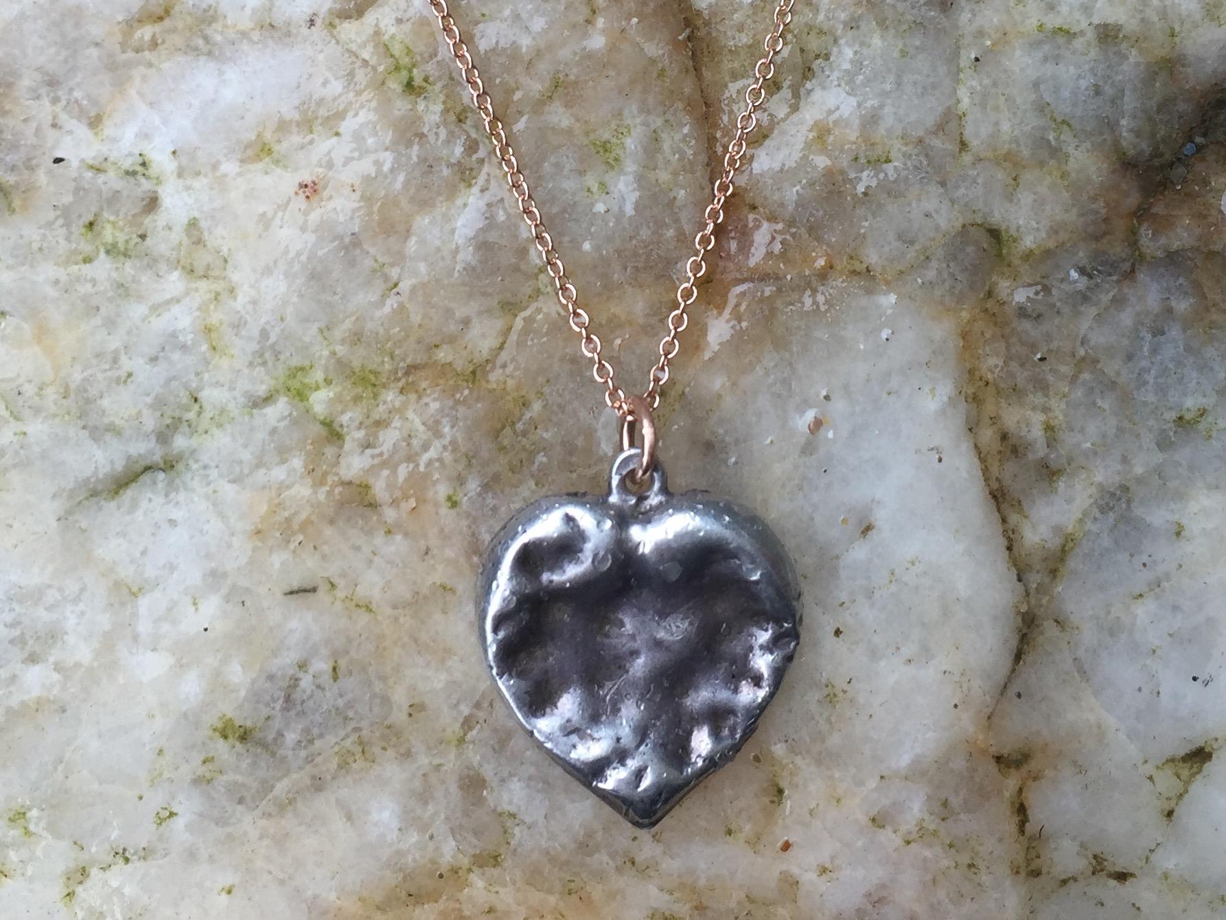 sea heart pendant