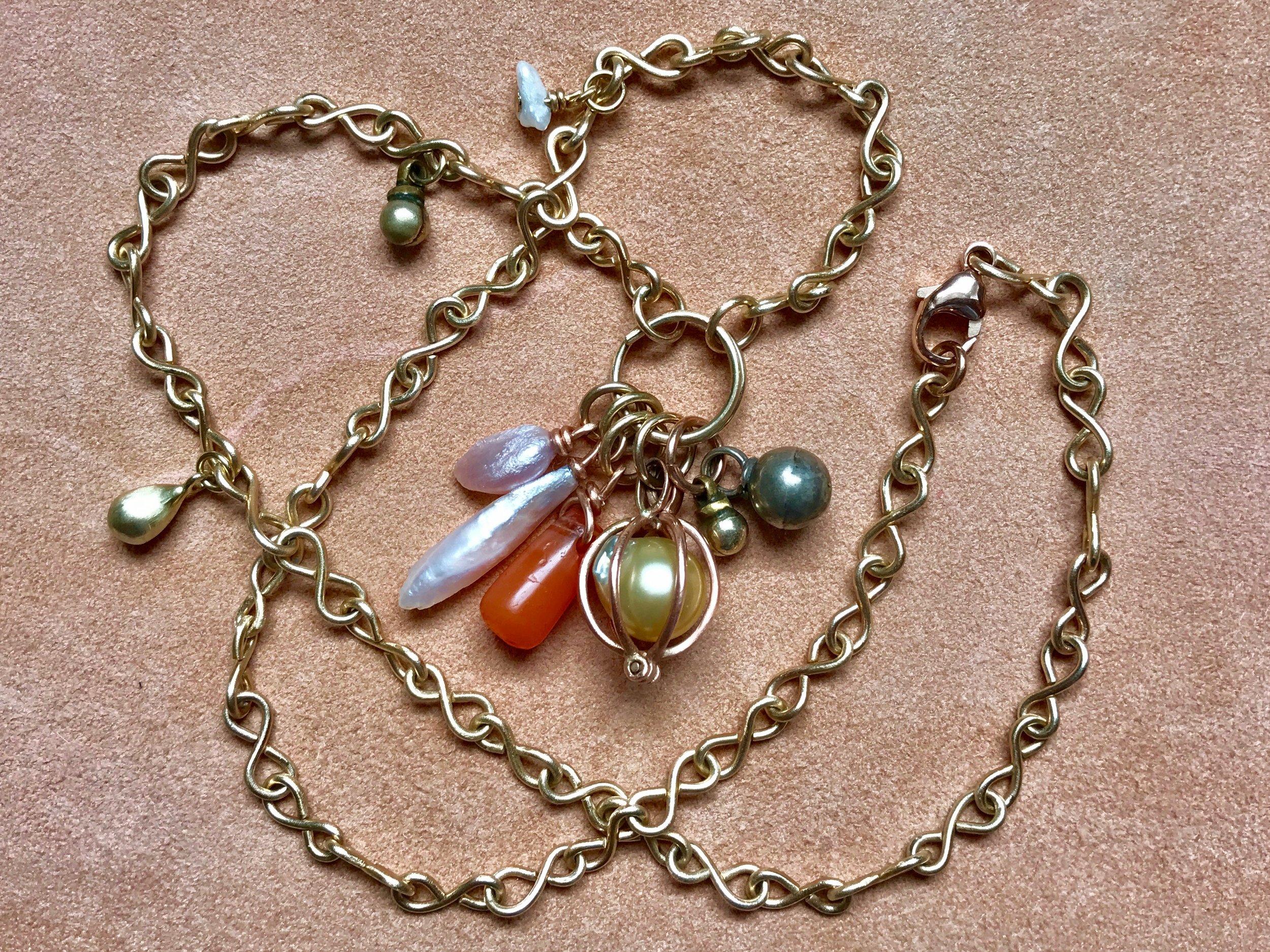 Co-Craetion Infinity Chain, Mississippi's, Carnelian, Bedouin Bells, by Tara Turner.jpg