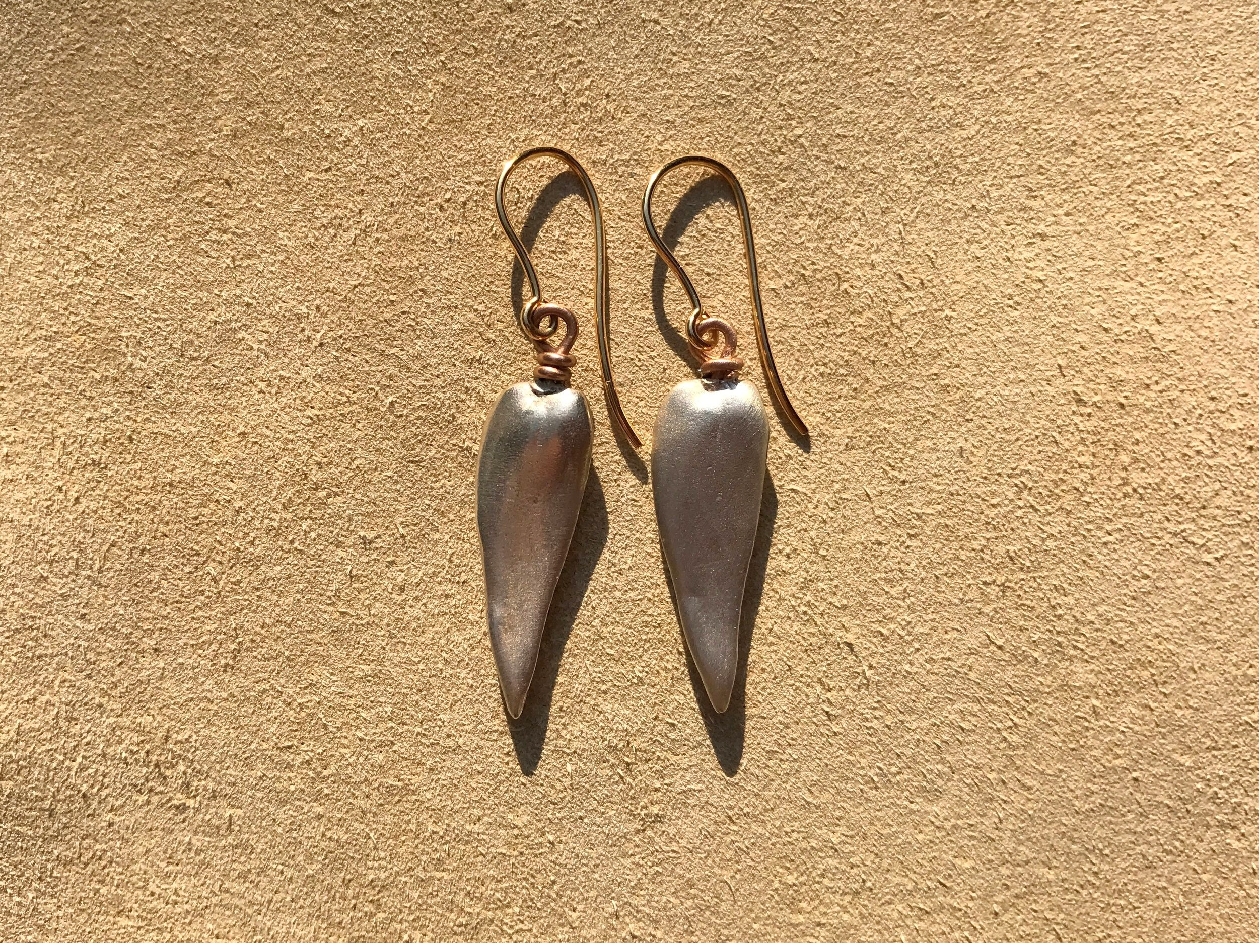 large Mississippi wing drop earrings
