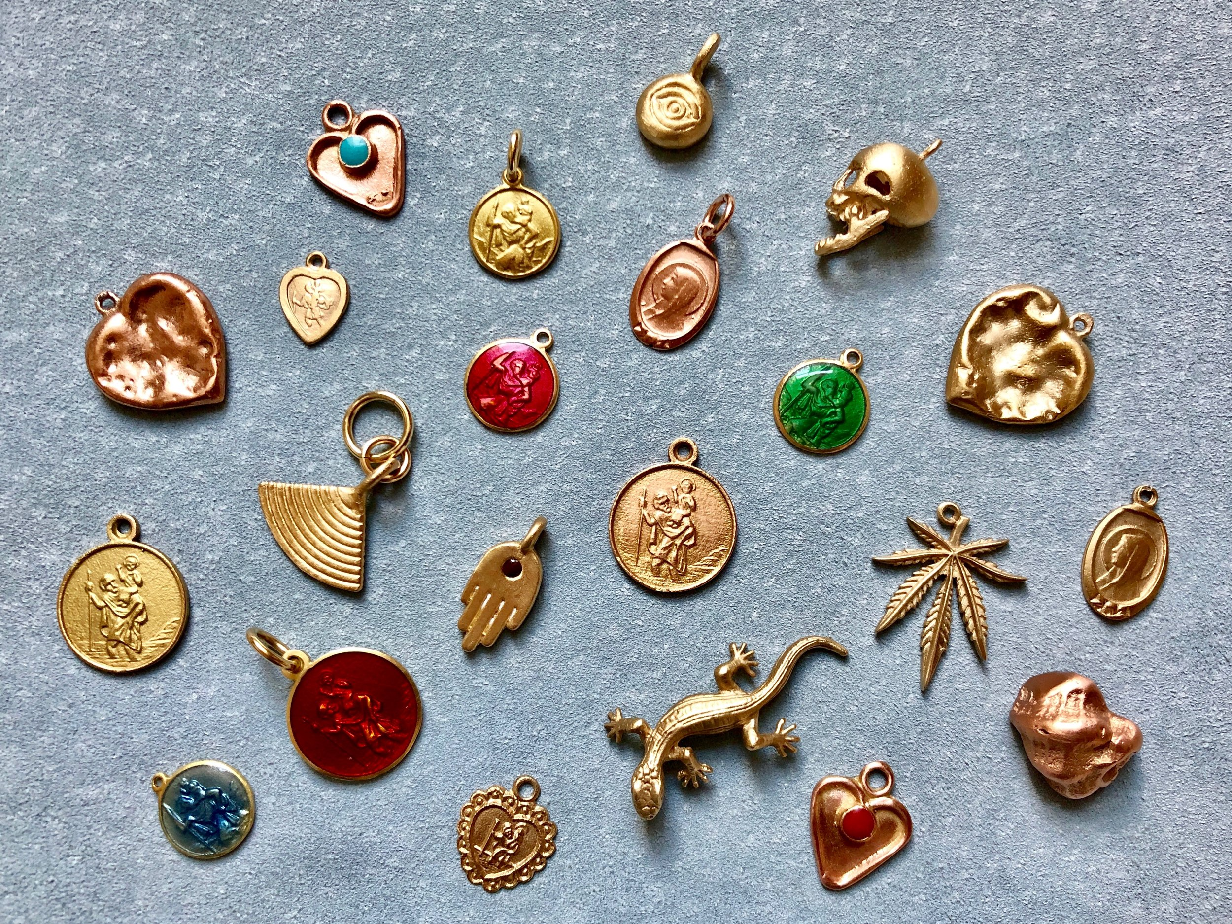 COLLECTION OF HANDMADE CHARMS