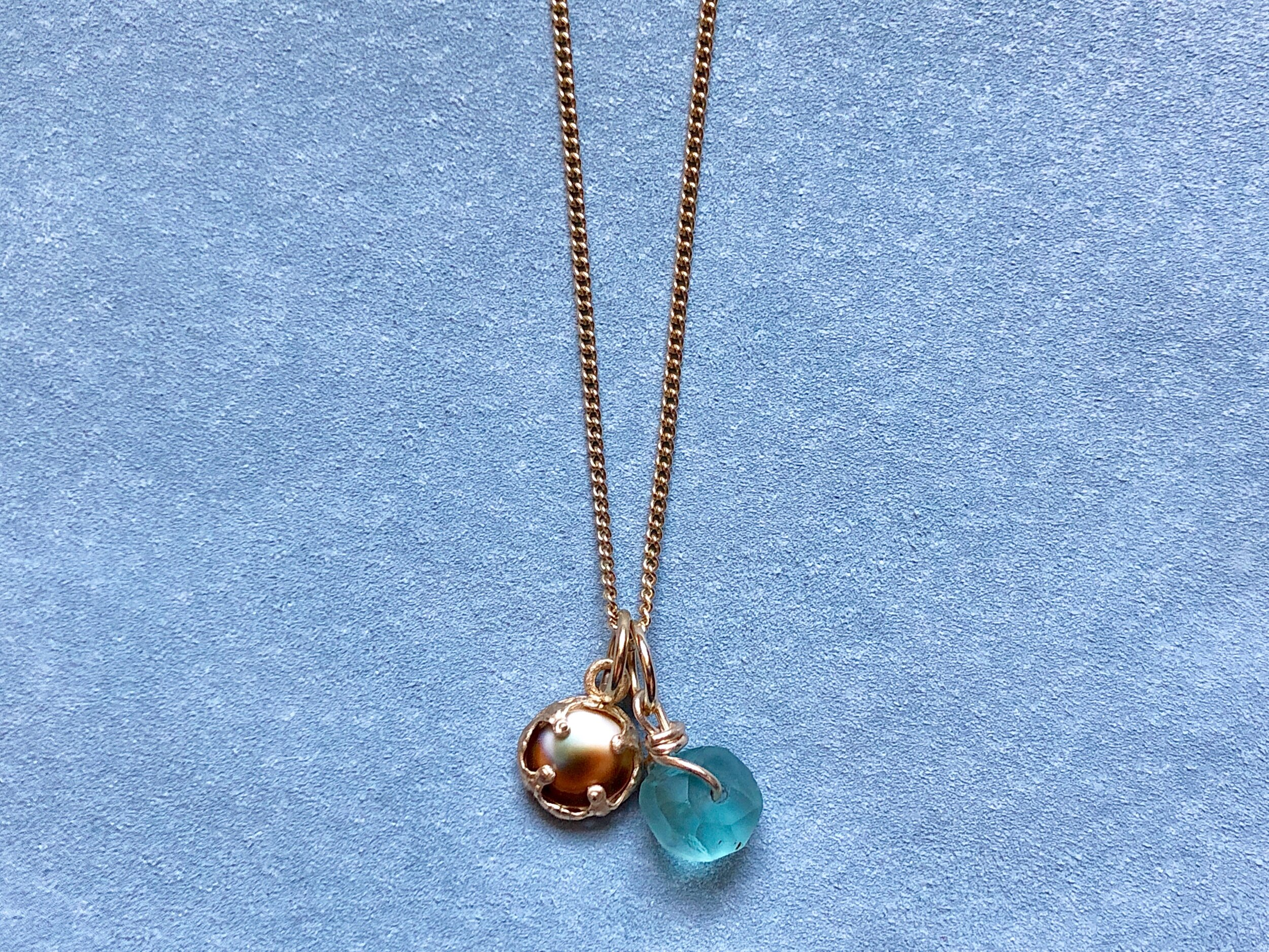shiva shell and apatite necklace