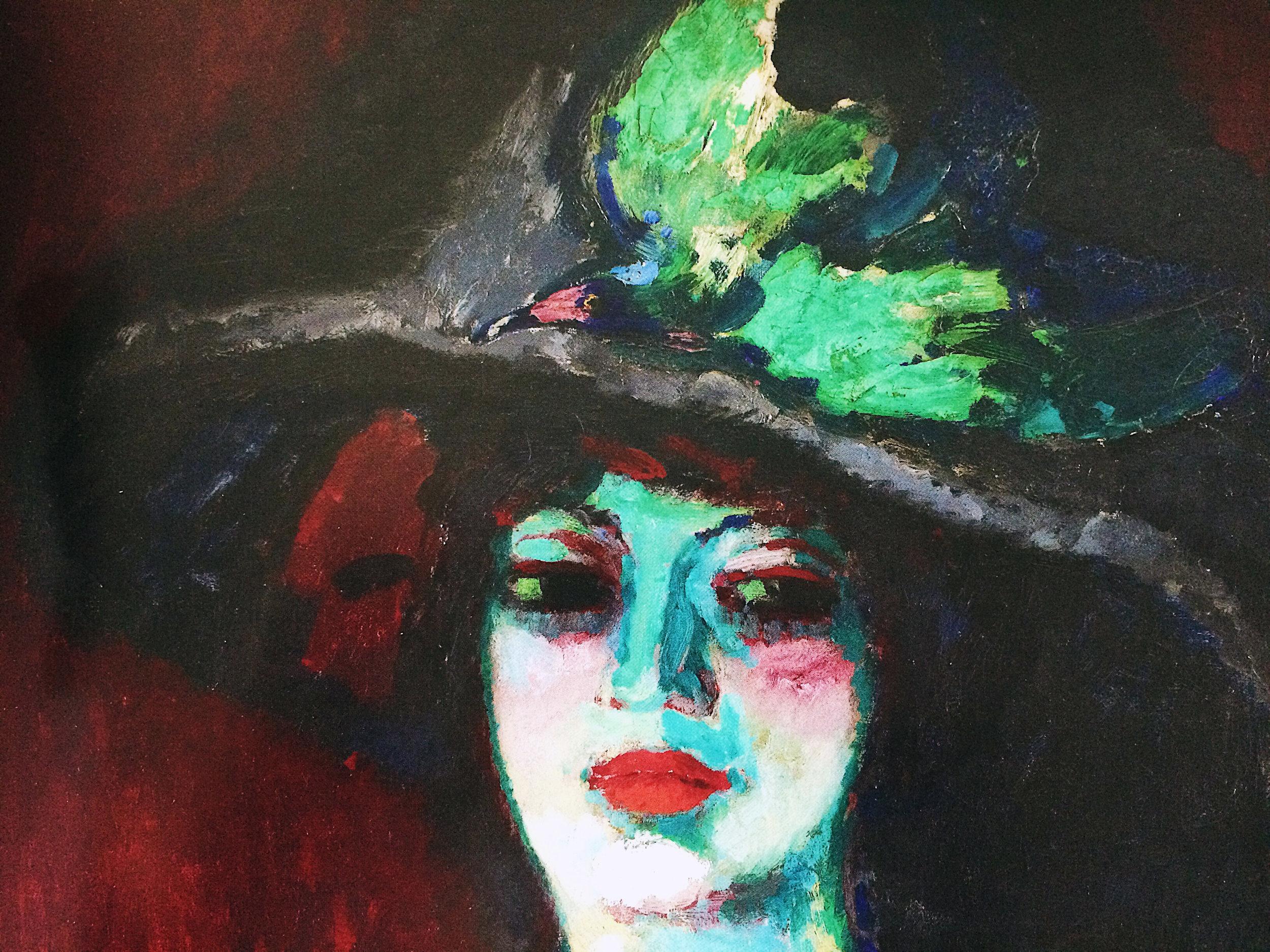 Kees Van Dongen : Femme au grand chapeau, 1906 (détail) ; coll. A. Koplowitz