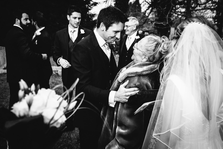 Groom at Warwickshire Wedding John Colson Photography