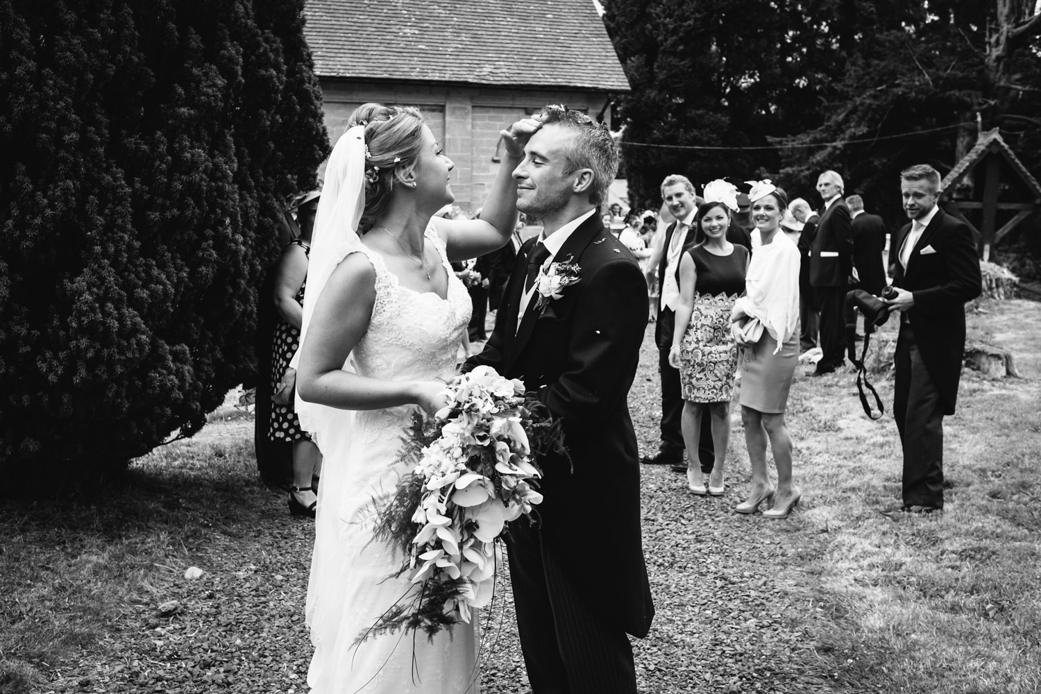 Copy of Bride and Groom with Confetti John Colson Wedding Photographer