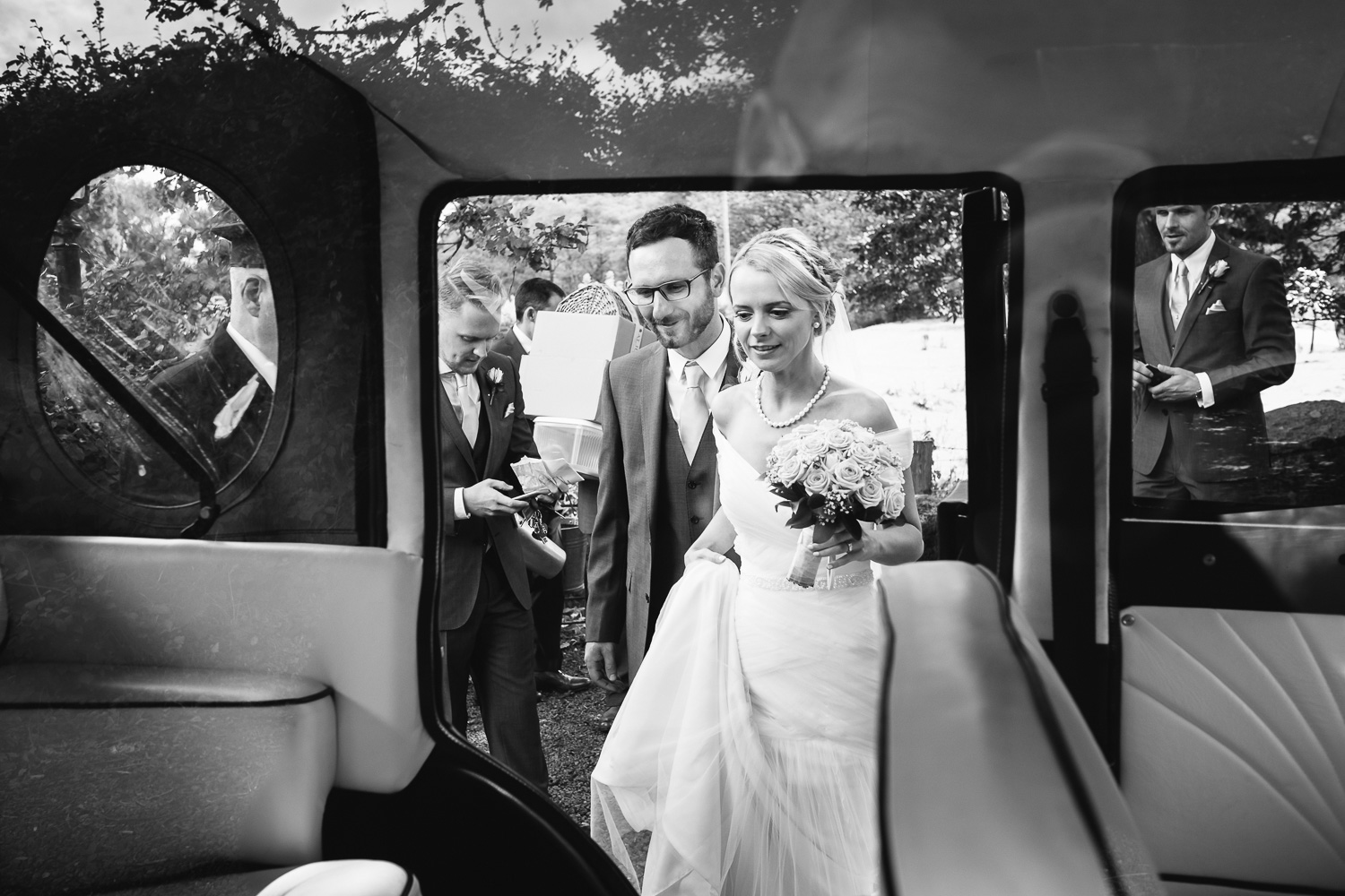 Just married! an image from Kate and Frans Glangrwyney Court Wedding.