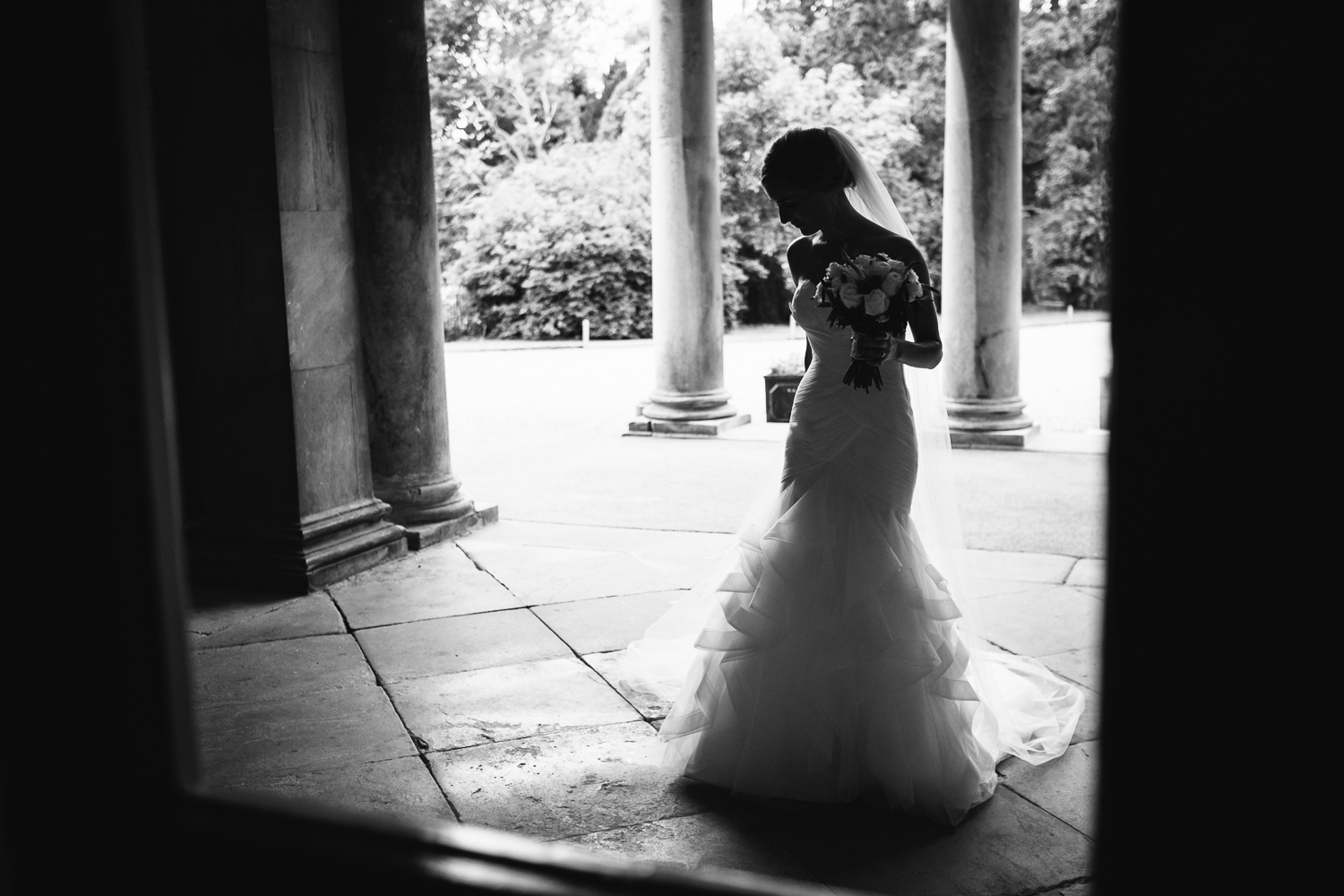 A beautiful bride. Ali taking some time out during her wedding to Armon in Leicestershire.