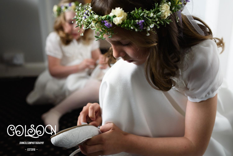Flower girls at a Worcestershire Wedding.