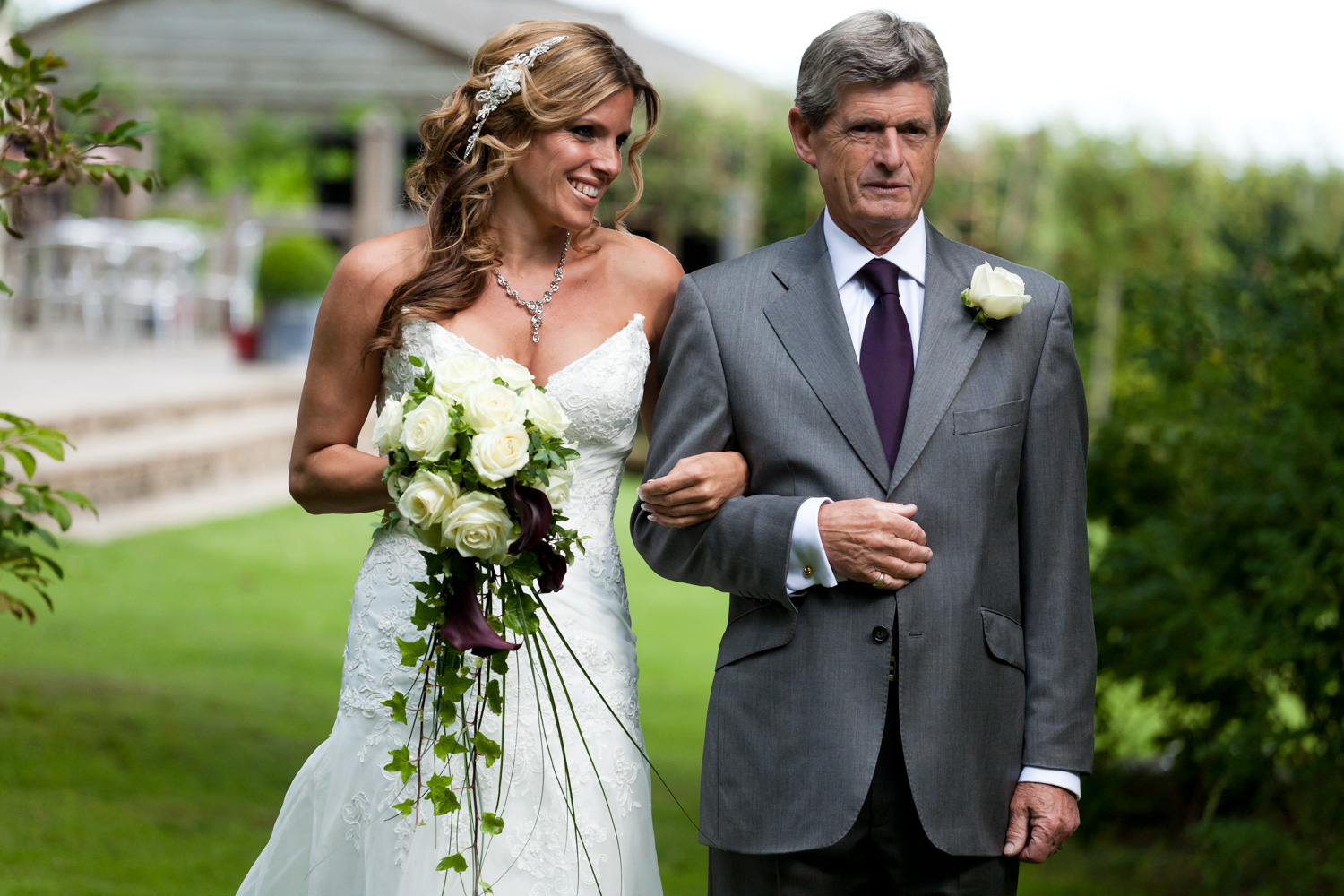 Copy of Bride and her father walking down the aisle.