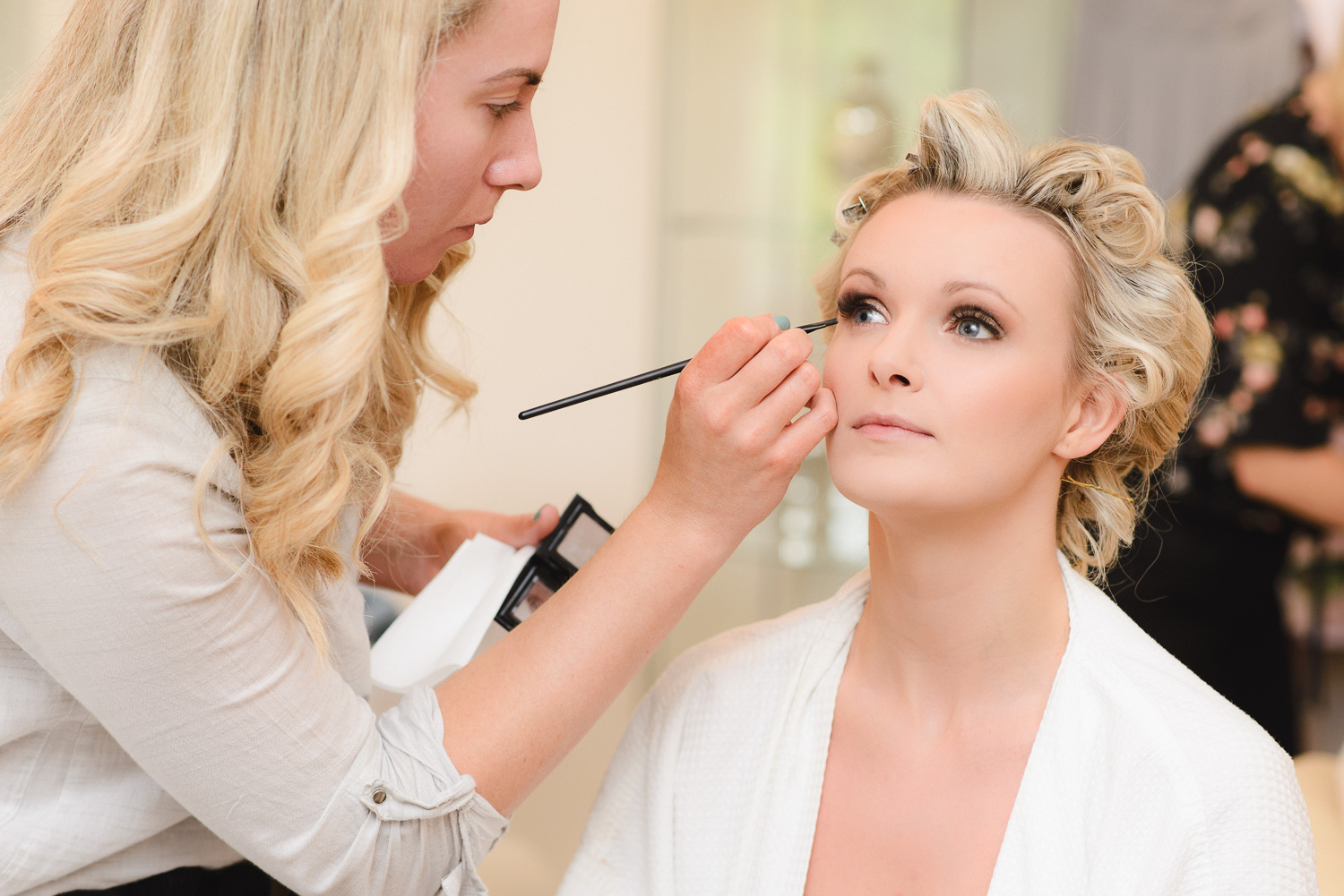 Bridal Preparations in the Hen House at Lemore Manor, Herefordshire.