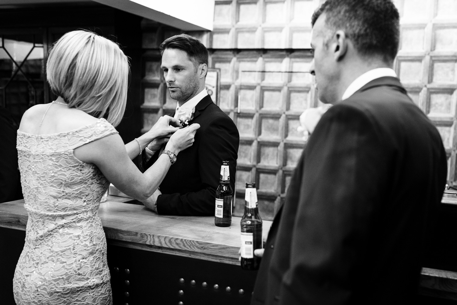 A nervous Groom ahead of his Herefordshire wedding.