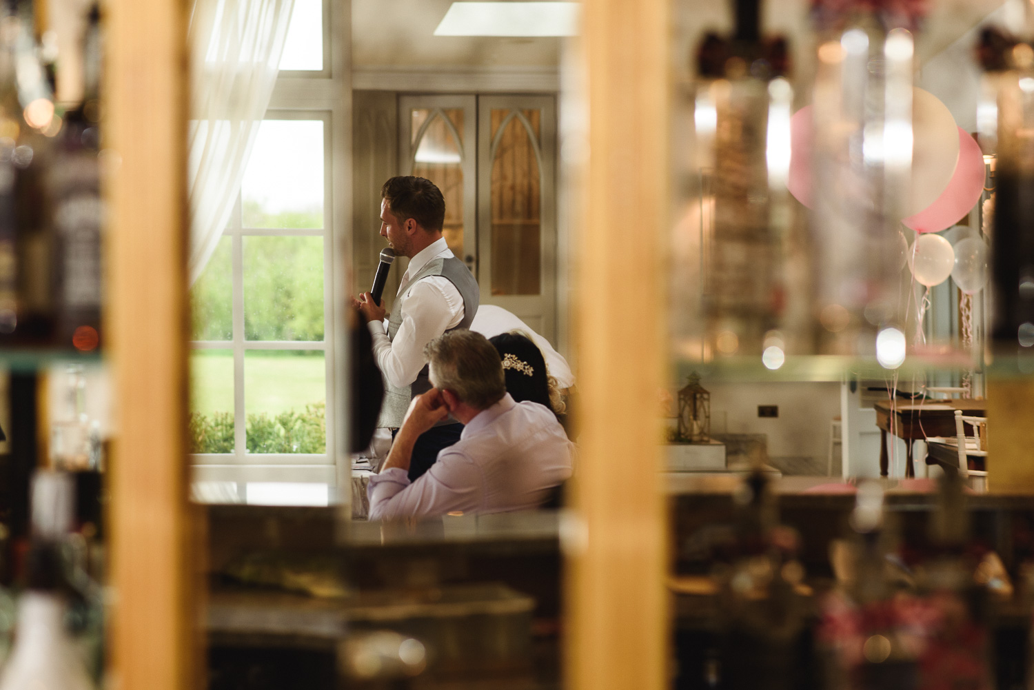 A nervous Grooms speech in the Orangery at Lemore Manor near Hereford.