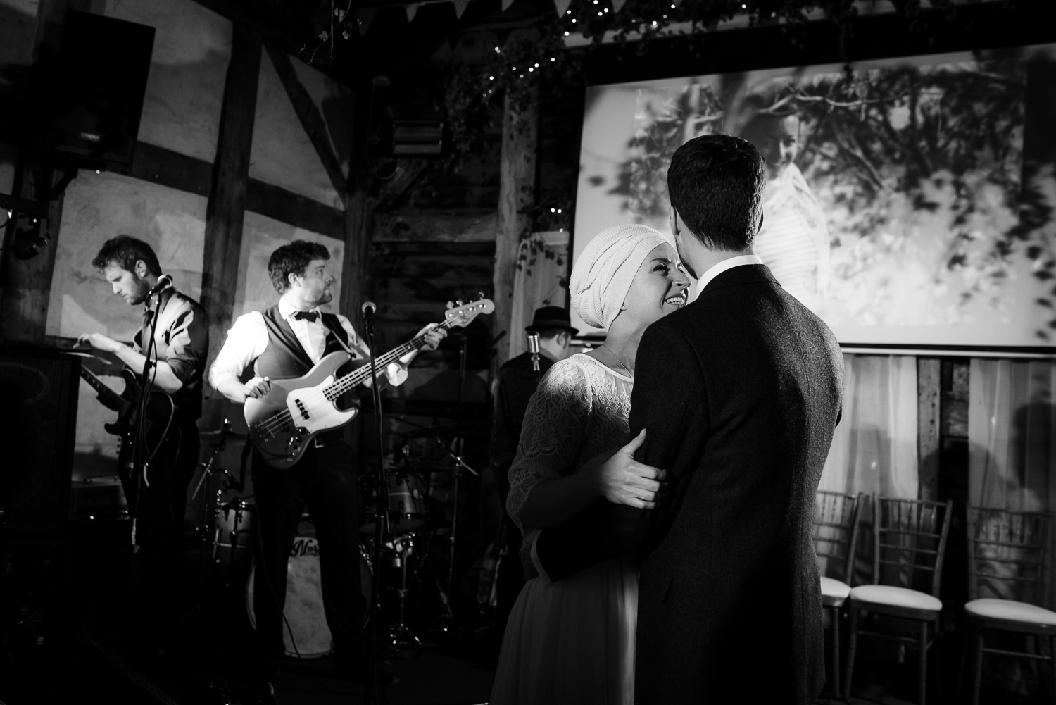 First Dance at a wedding at the Fleece Inn, Worcestershire.